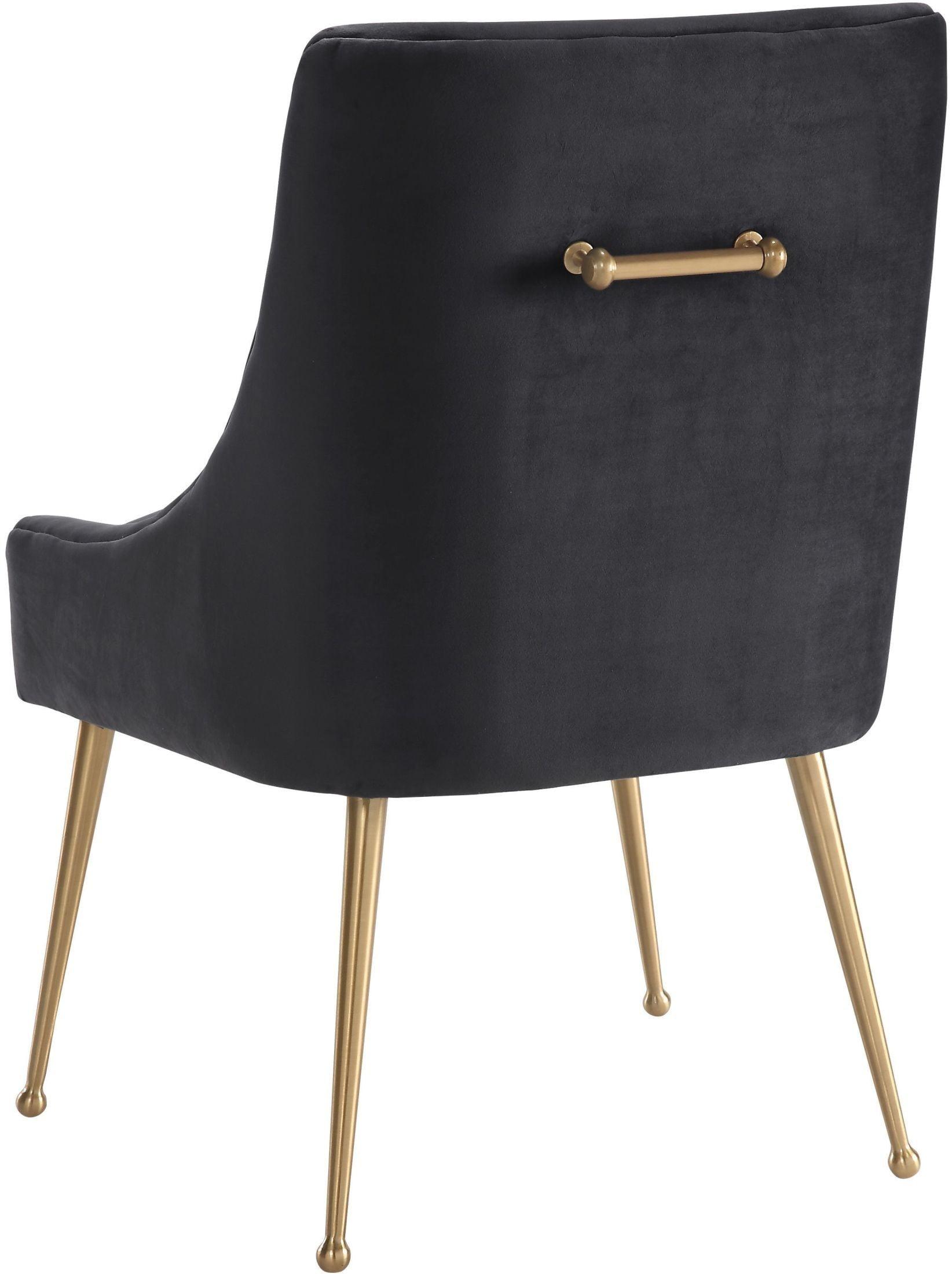 Beatrix Gray Velvet Side Chair D47 TOV Furniture