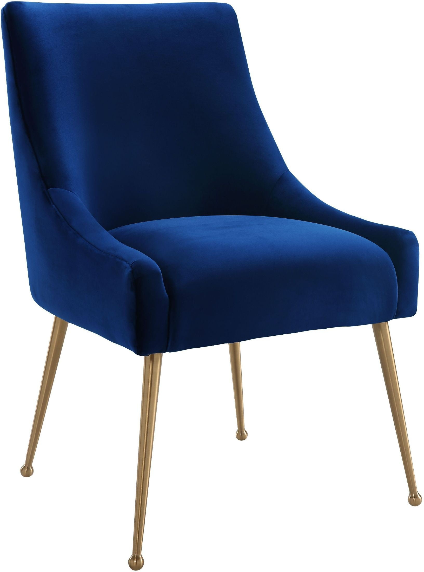 Beatrix Navy Velvet Side Chair D48 Tov Furniture