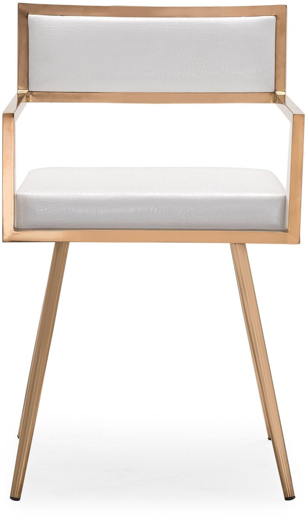 Marquee White Croc Arm Chair Set Of 2 G5460 Tov Furniture