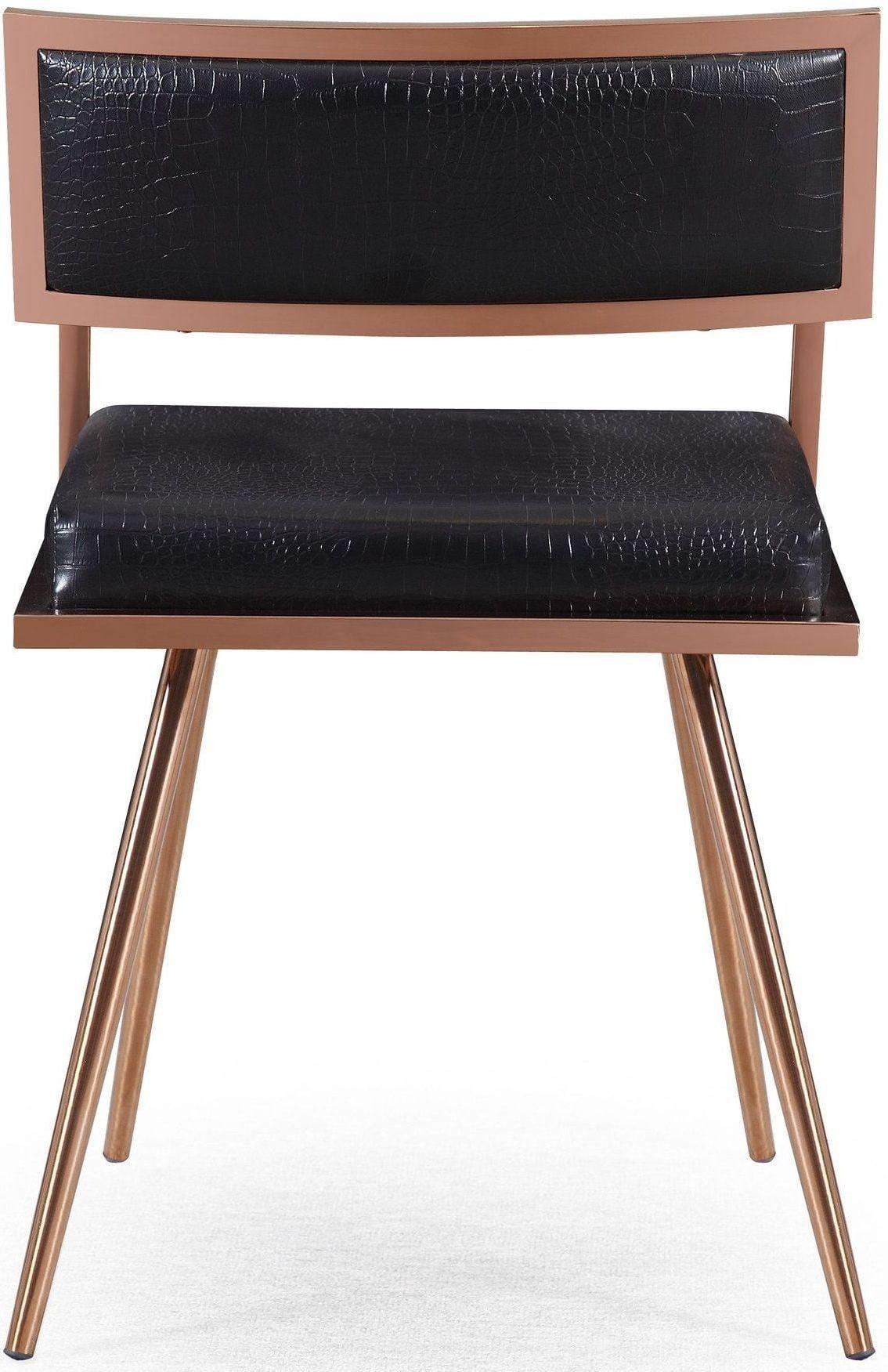 Marquee Black Croc Arm Chair Set Of 2 G5461 Tov Furniture