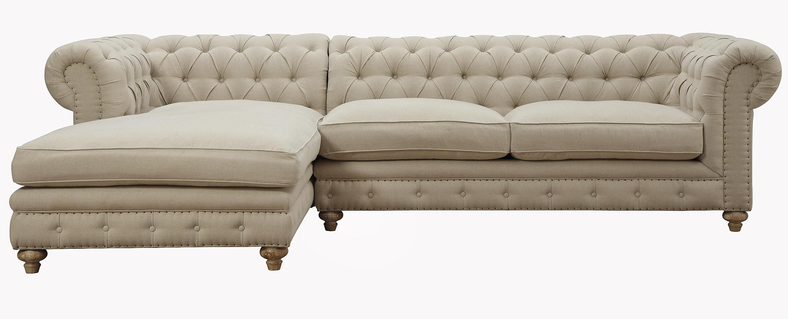 Oxford beige linen laf sectional from tov s19 sec l coleman furniture - Canape chesterfield beige ...