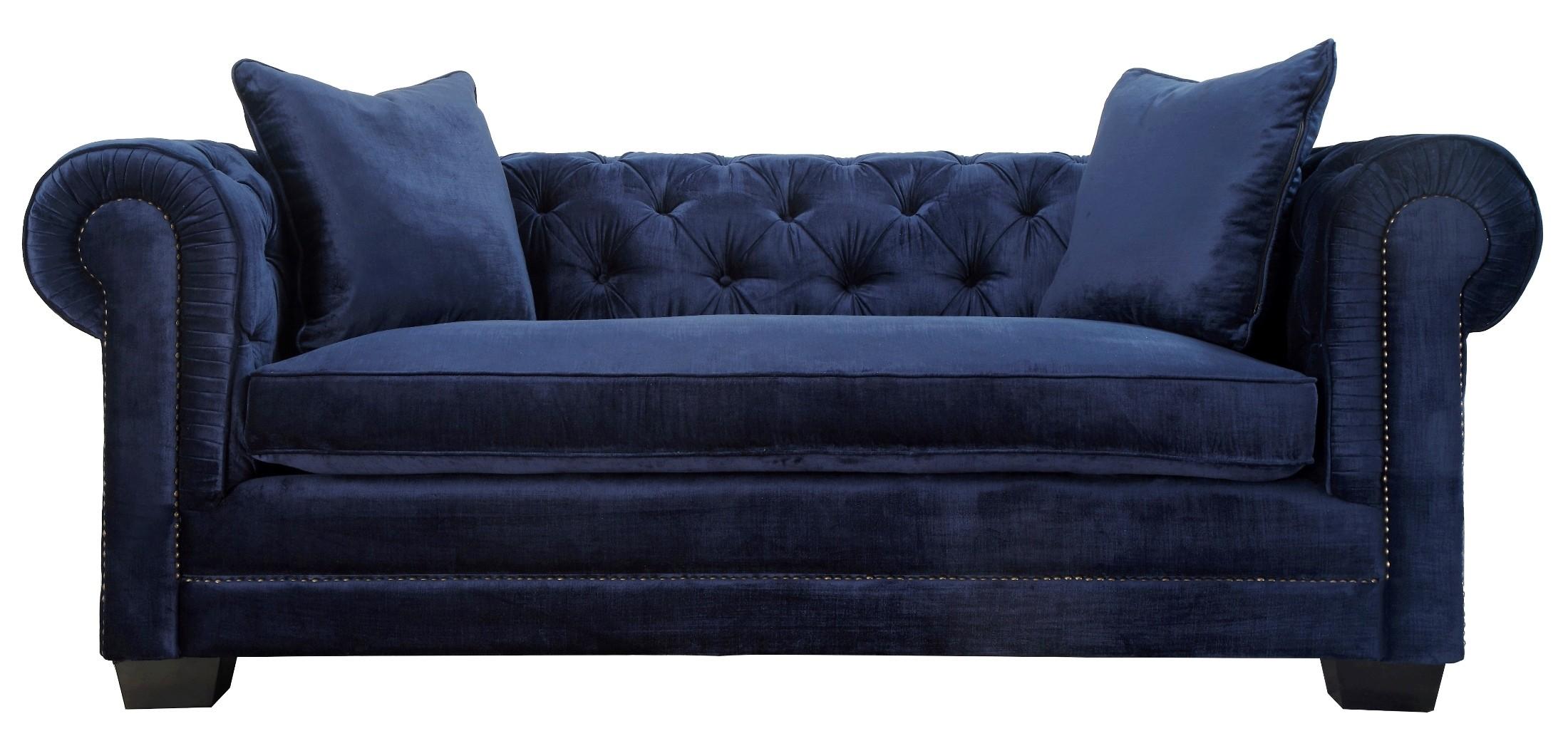 Norwalk Navy Velvet Sofa From Tov Tov S25 Coleman