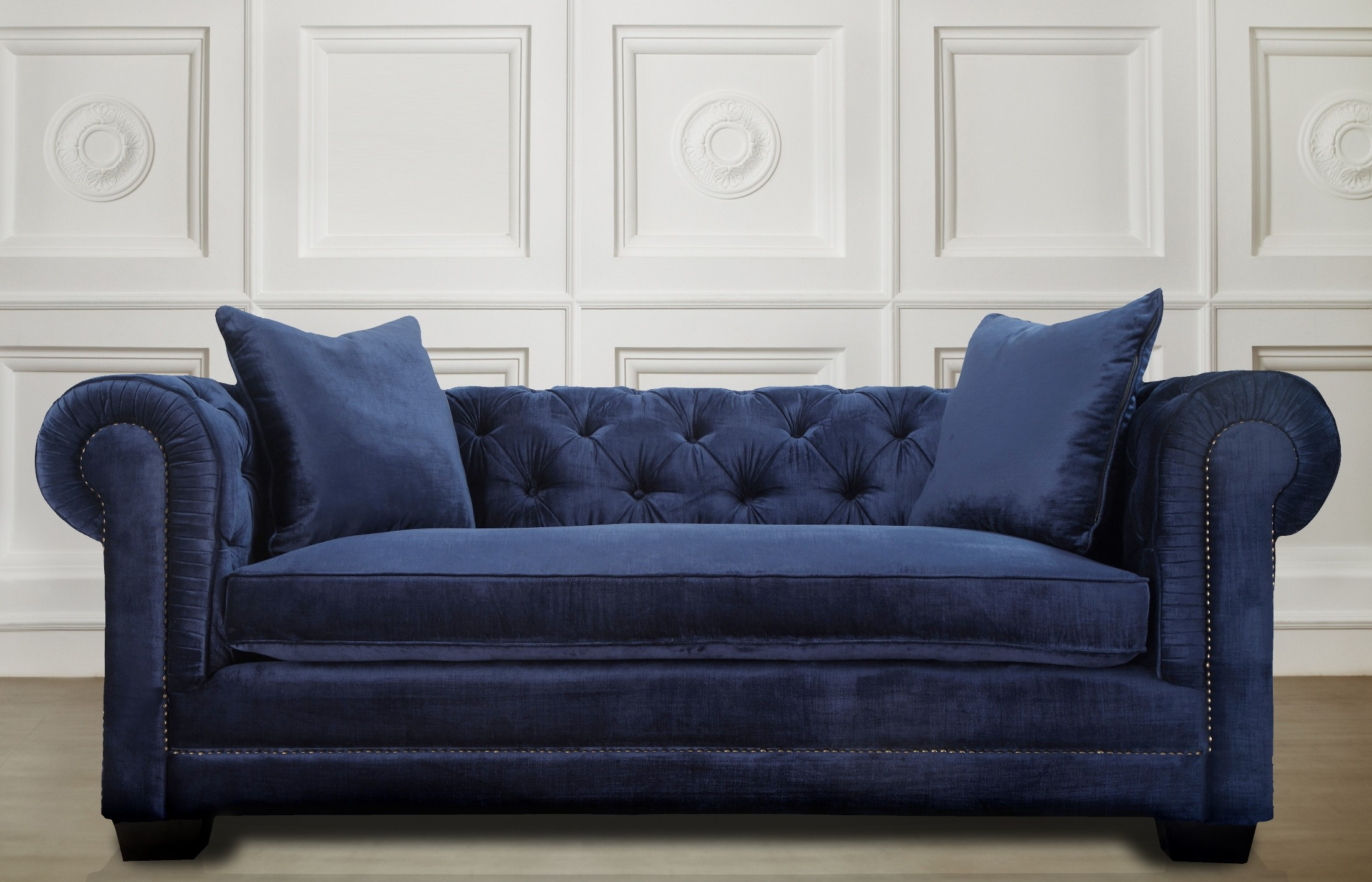 Norwalk Navy Velvet Sofa From Tov Tov S25 Coleman Furniture