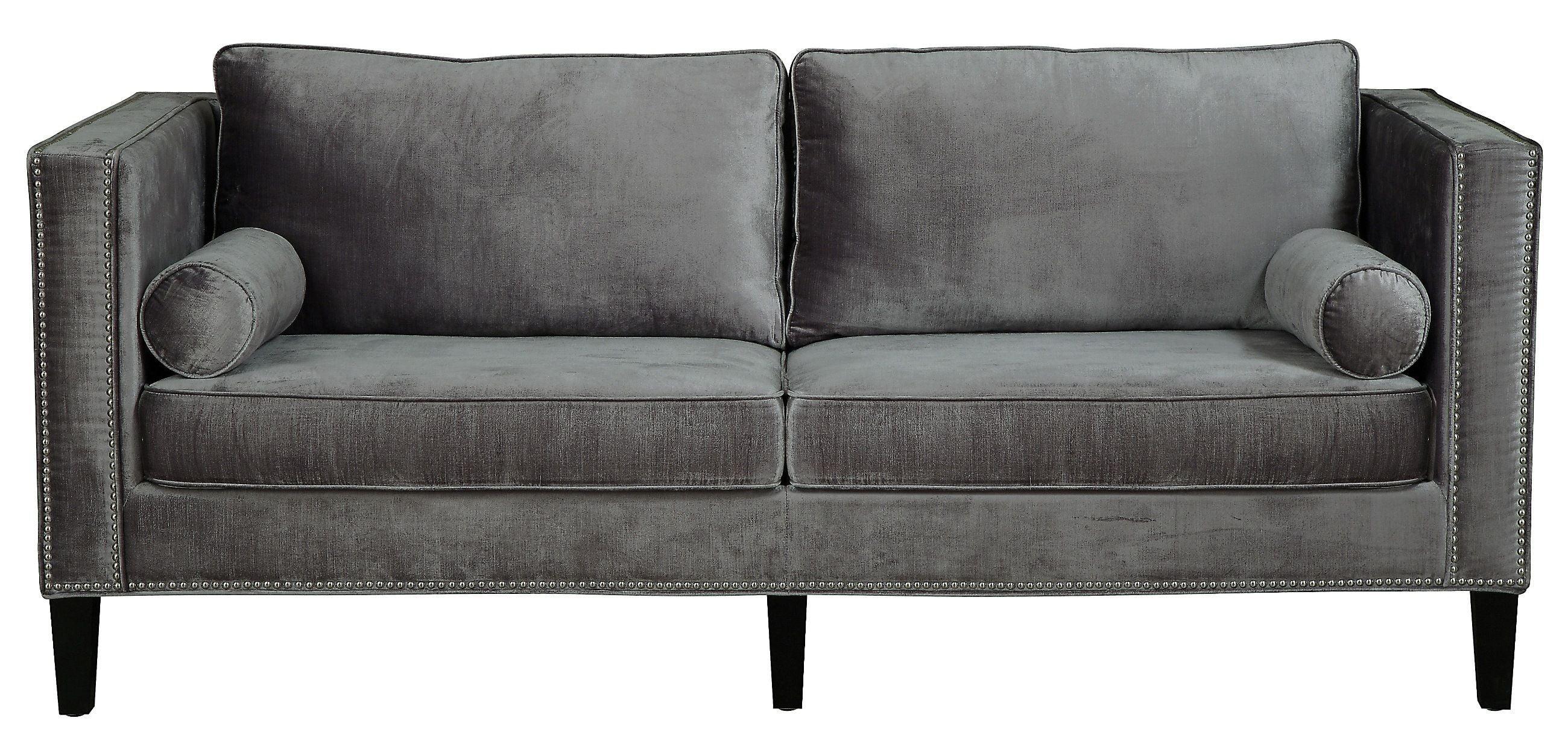 Cooper Grey Velvet Sofa From Tov S29 Coleman Furniture