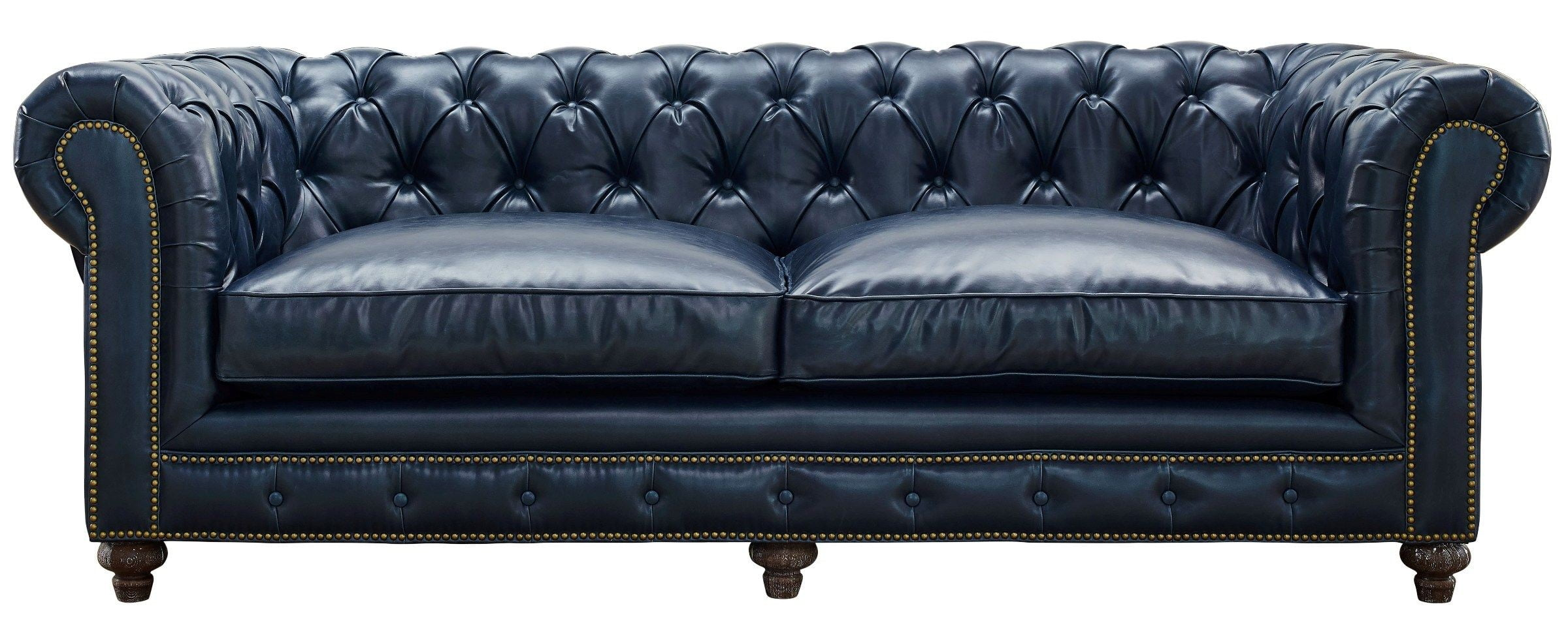 Durango rustic blue leather sofa from tov s38 coleman for Blue leather sofa