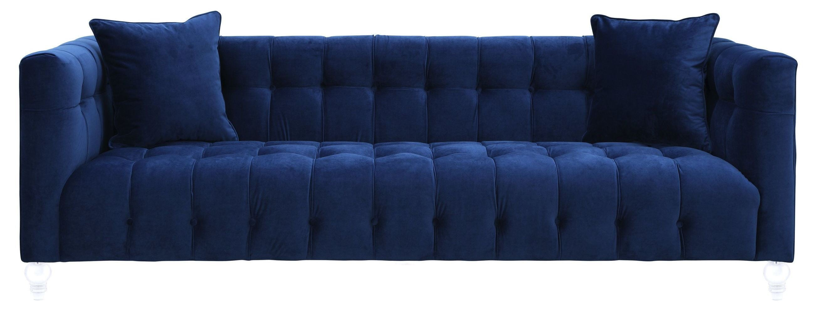 Bea Navy Velvet Sofa from TOV TOV S85 Coleman Furniture : tov s85 1 from colemanfurniture.com size 2600 x 987 jpeg 234kB