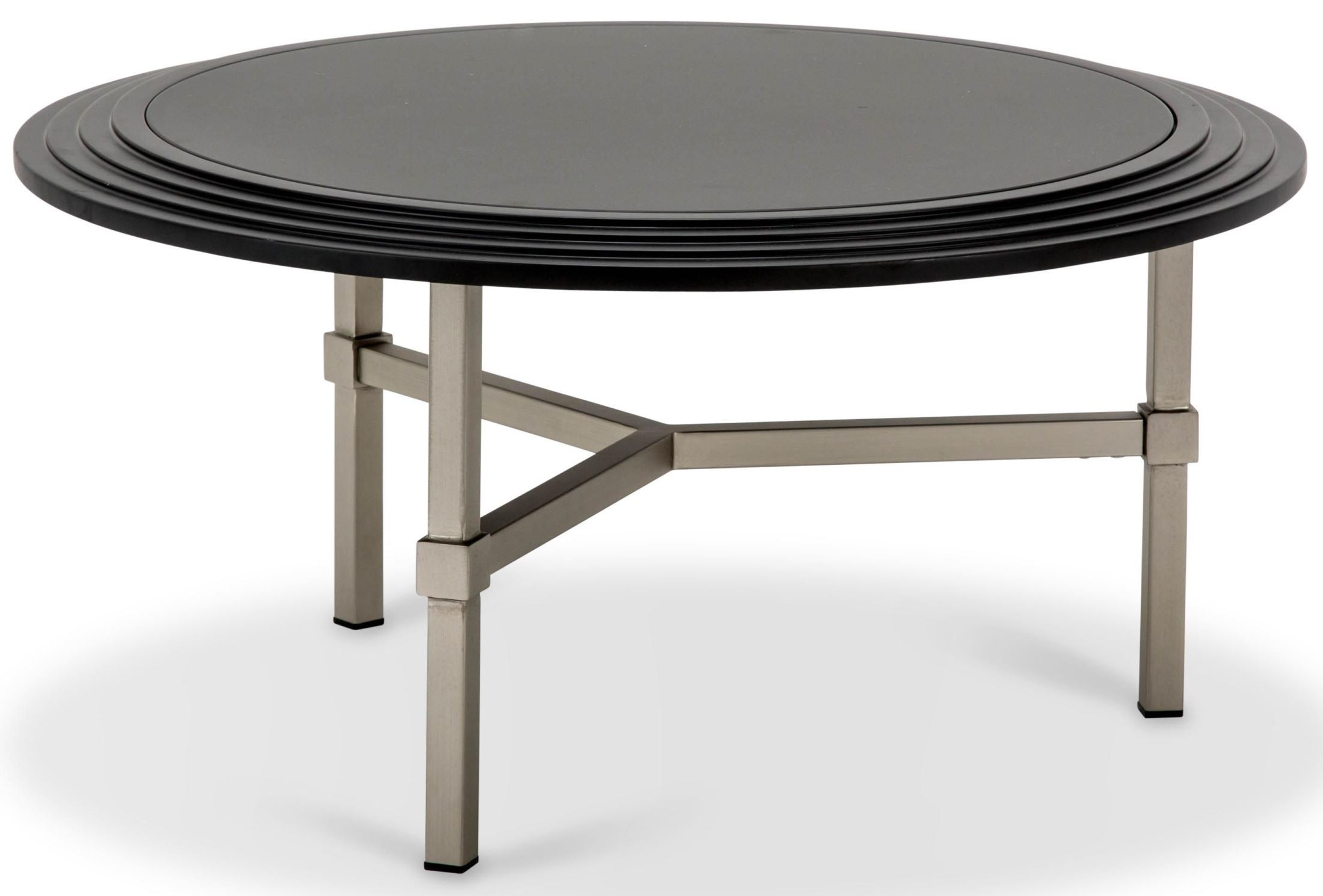 Trance vortex black round cocktail table tr vortx204b aico for Table th ou tr