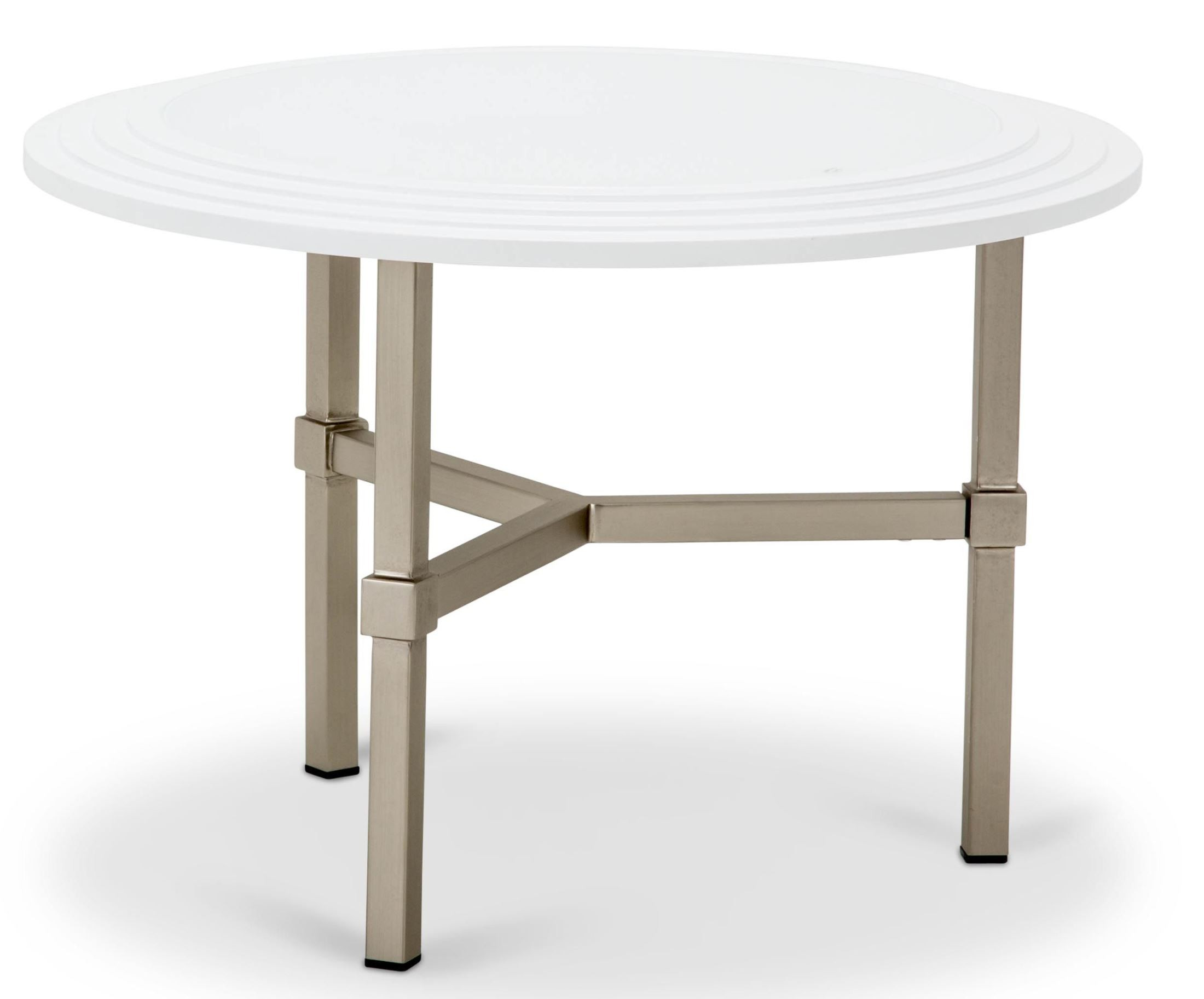 Trance vortex white round cocktail table tr vortx204w aico for Table th ou tr