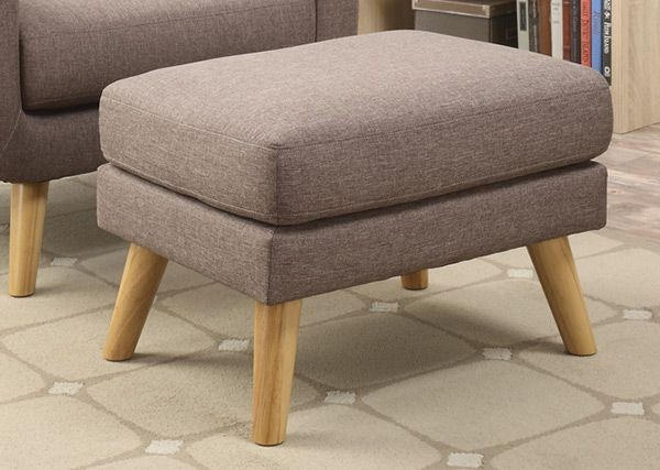 Wiley Solid Brown Square Cocktail Ottoman U4267 23 05