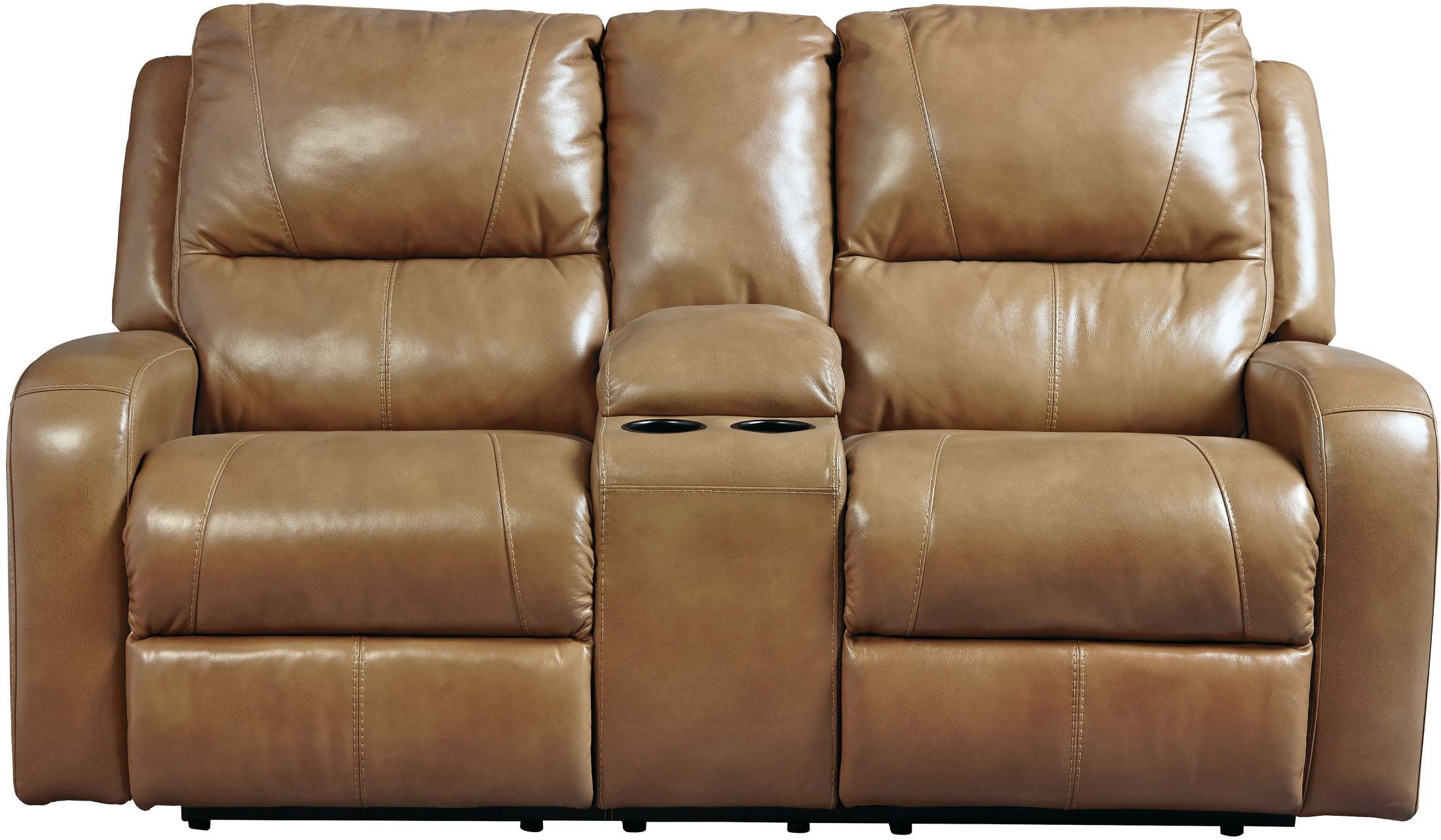 Roogan Blondie Double Reclining Console Loveseat U6070194 Ashley