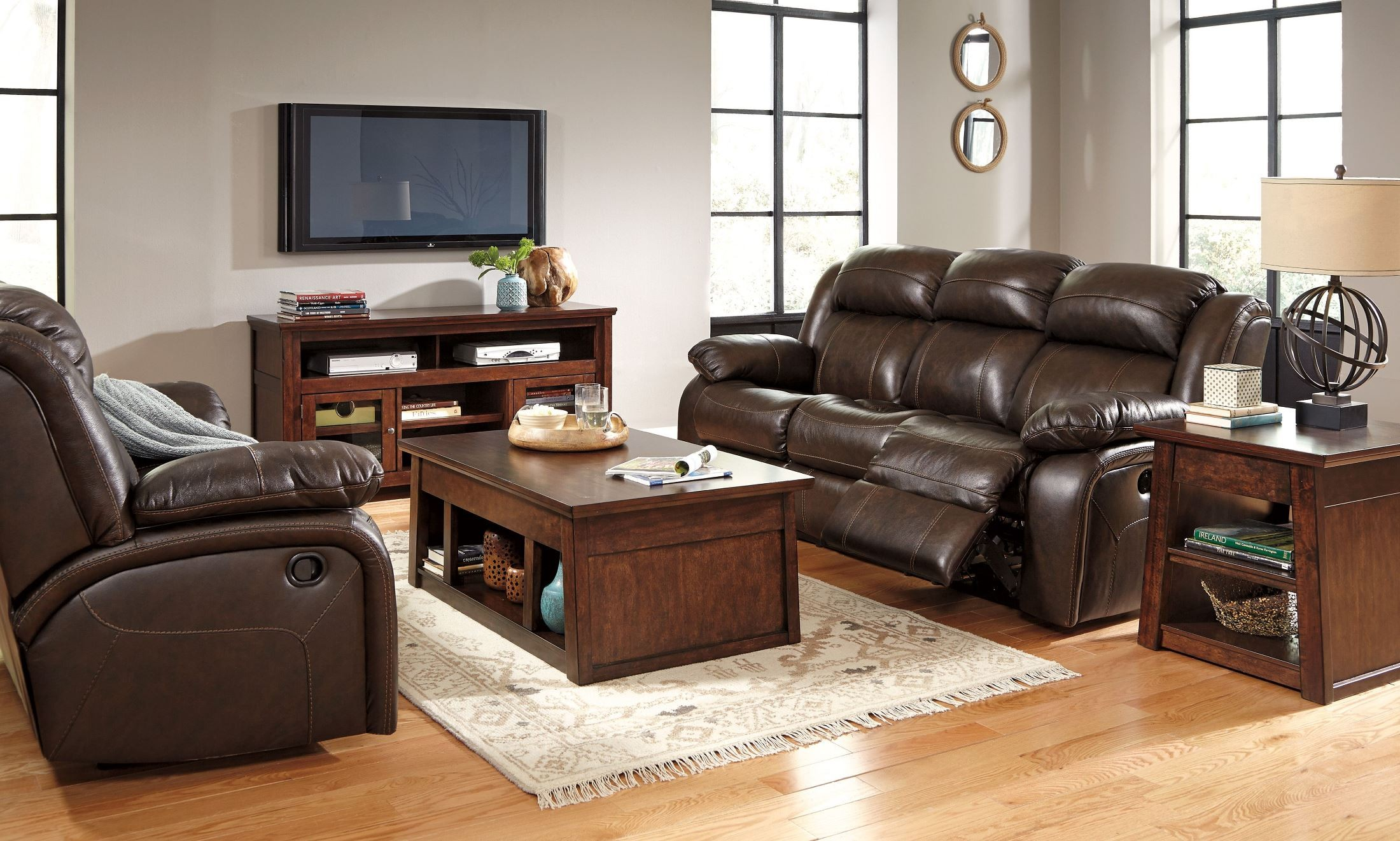 Branton Antique Power Reclining Sofa From Ashley U7190187 Coleman Furniture