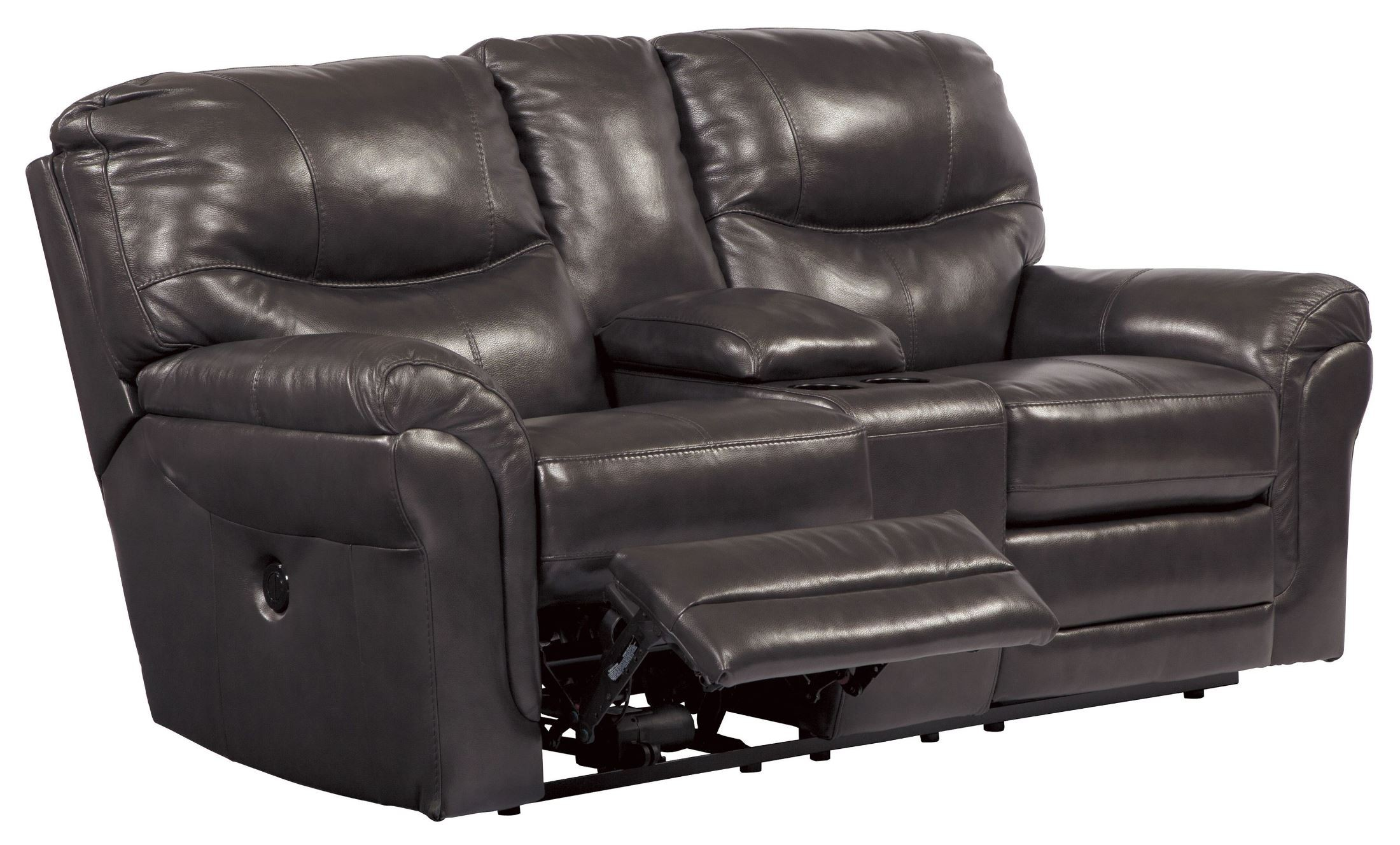 Banetonville Metal Double Power Reclining Console Loveseat From Ashley U7300096 Coleman