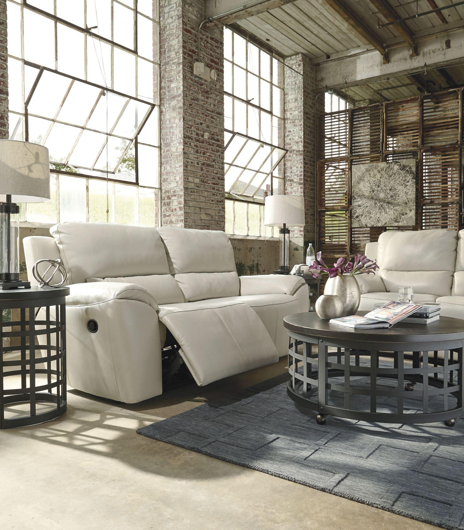 Valeton cream 2 seat reclining sofa from ashley u7350081 for Furniture u street dc