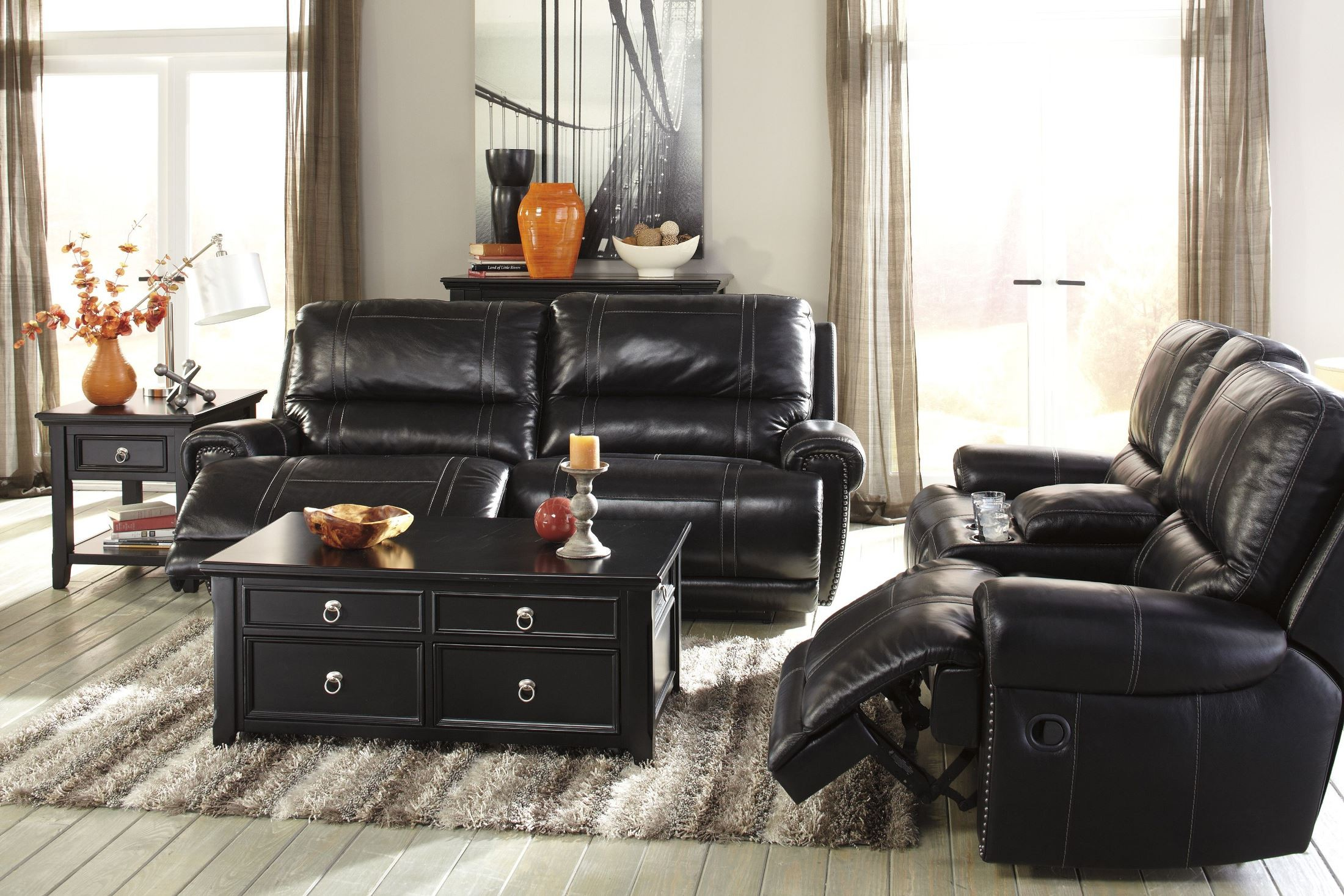 paron antique power reclining living room set from ashley u75901 47