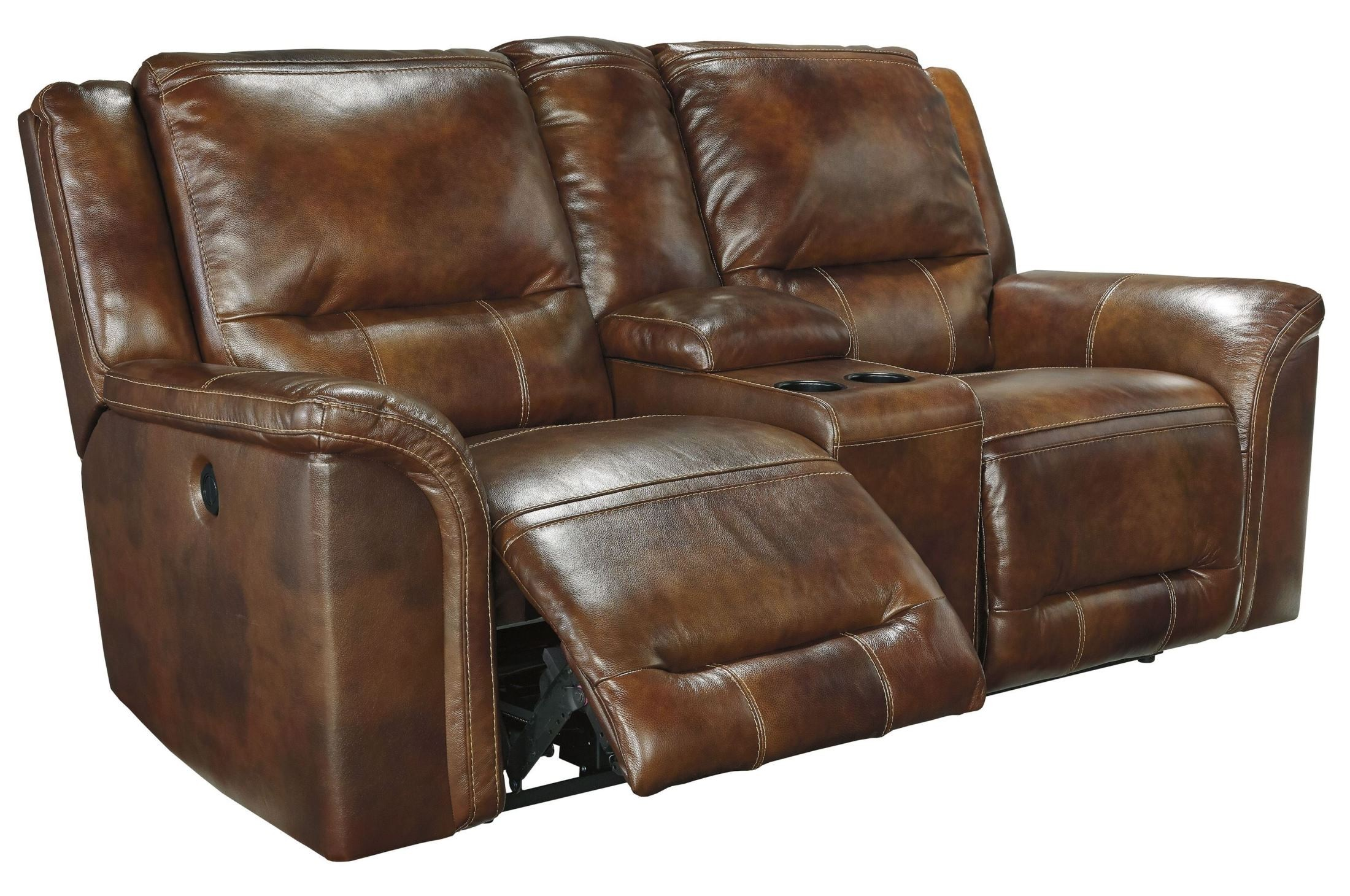 Jayron Harness Double Reclining Power Loveseat With Console From Ashley U7660096 Coleman