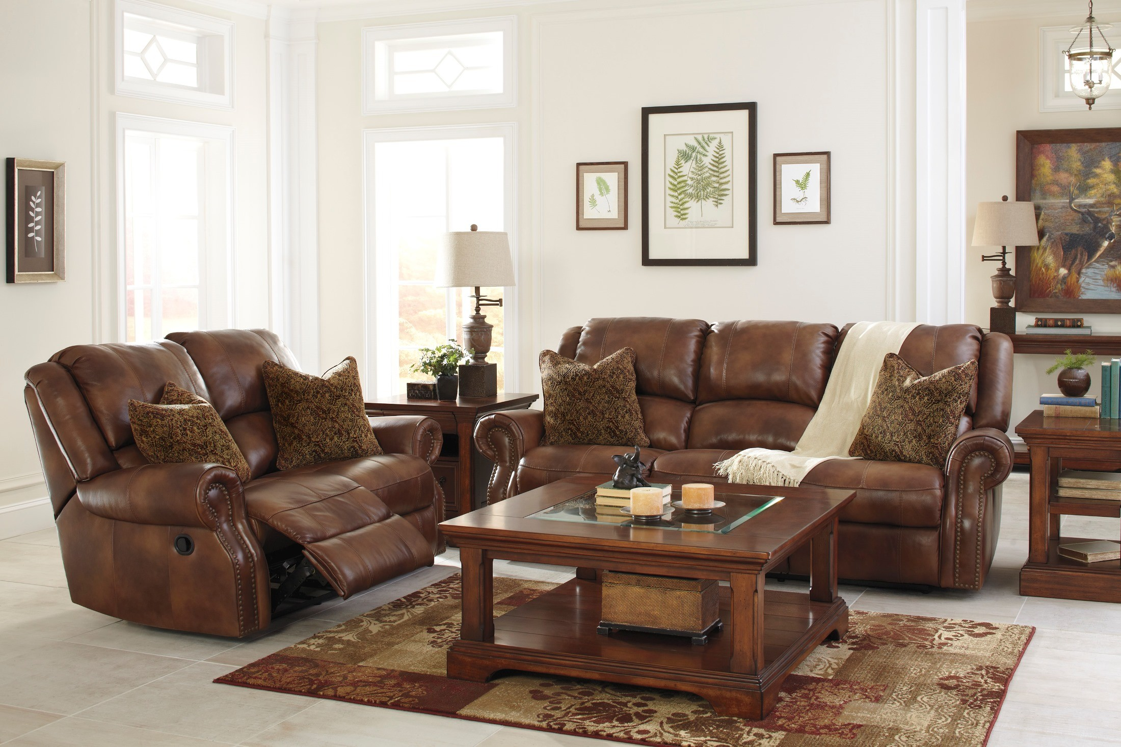 Walworth auburn power reclining living room set from for Living room chair set
