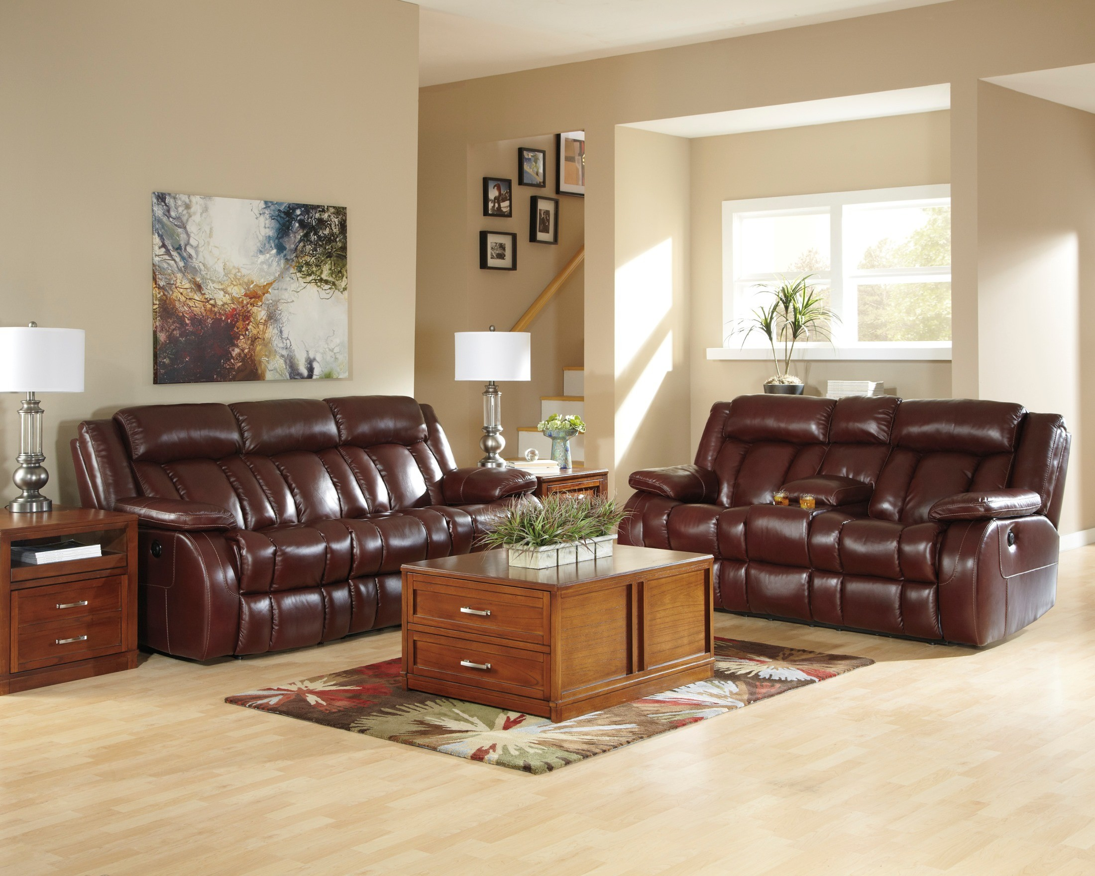 Gately Lift Top Cocktail Table Dainan Chestnut Double Reclining Loveseat with Console, U8950194 ...