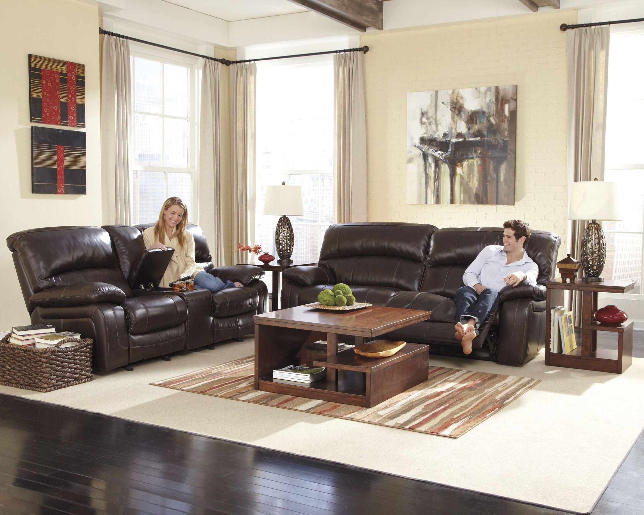 Damacio Dark Brown 2 Seat Power Reclining Sofa From Ashley