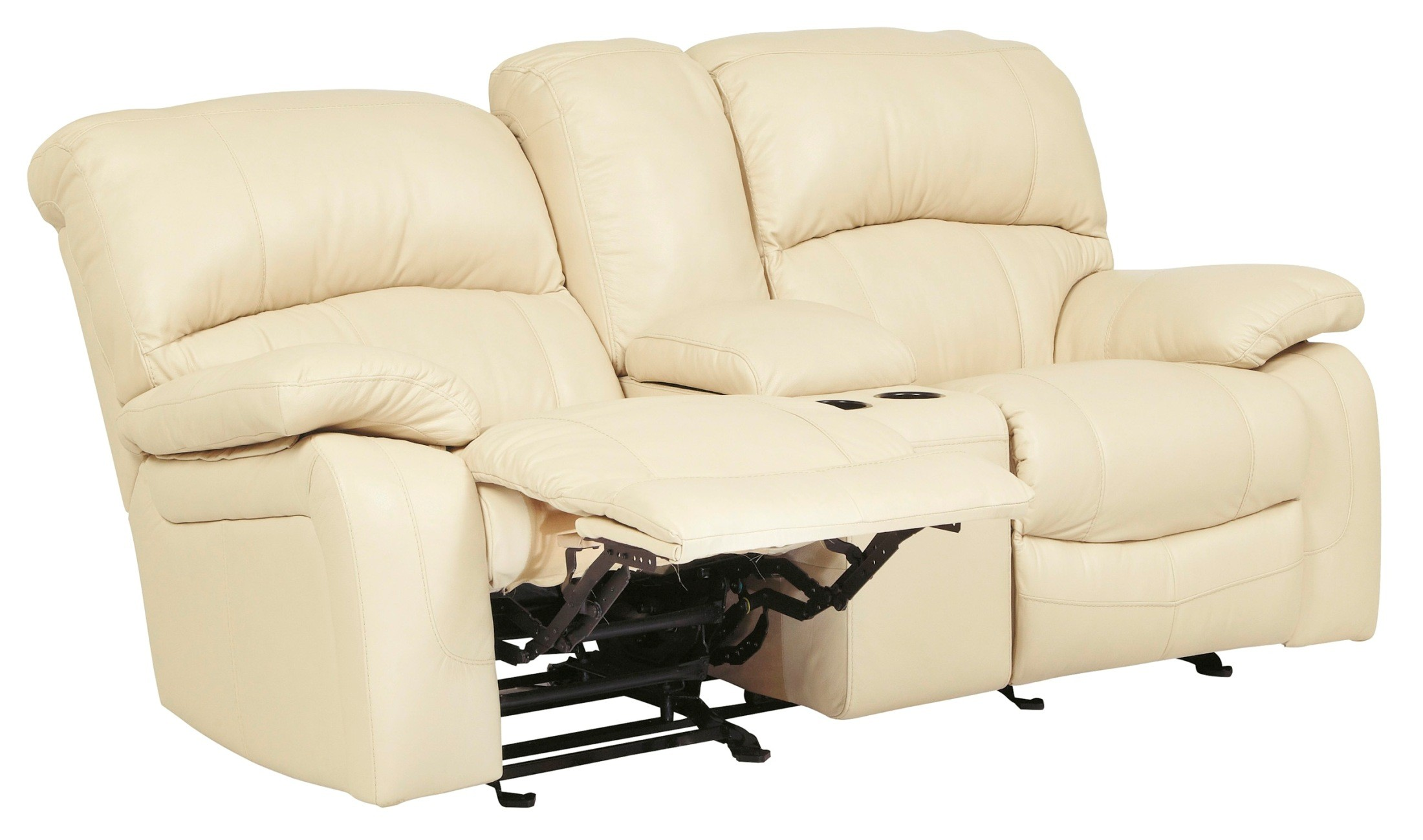 Damacio Cream Glider Power Reclining Loveseat With Console From Ashley U9820191 Coleman