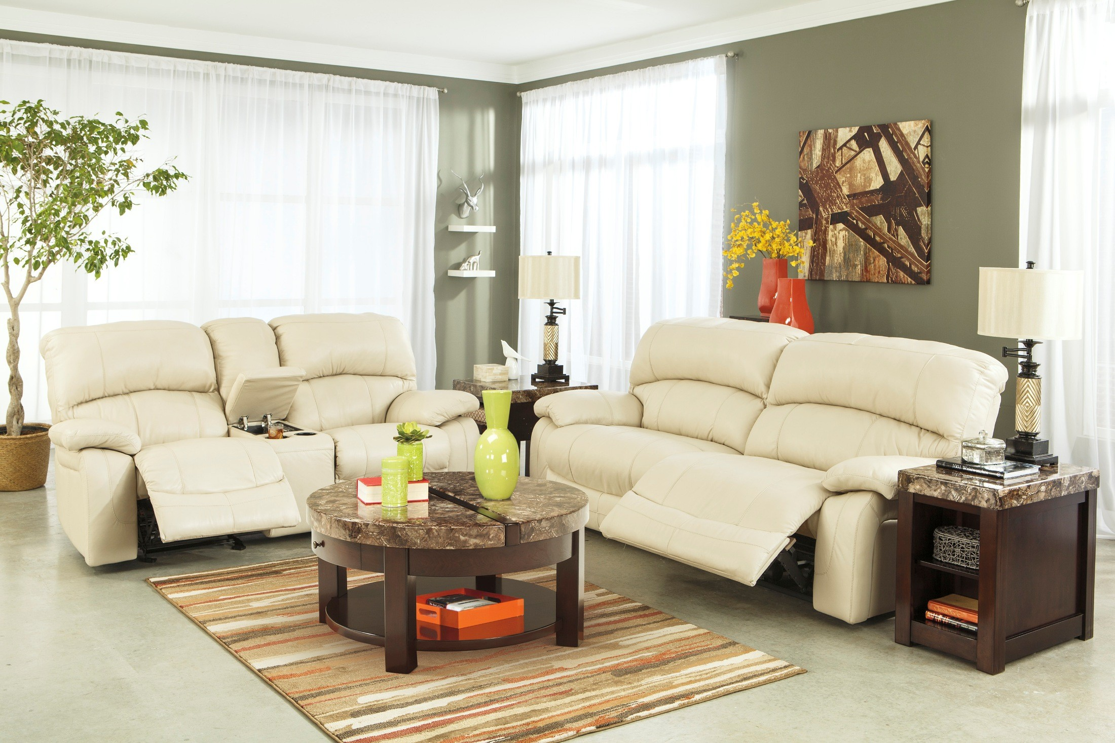 damacio cream power reclining living room set from ashley u98201 47