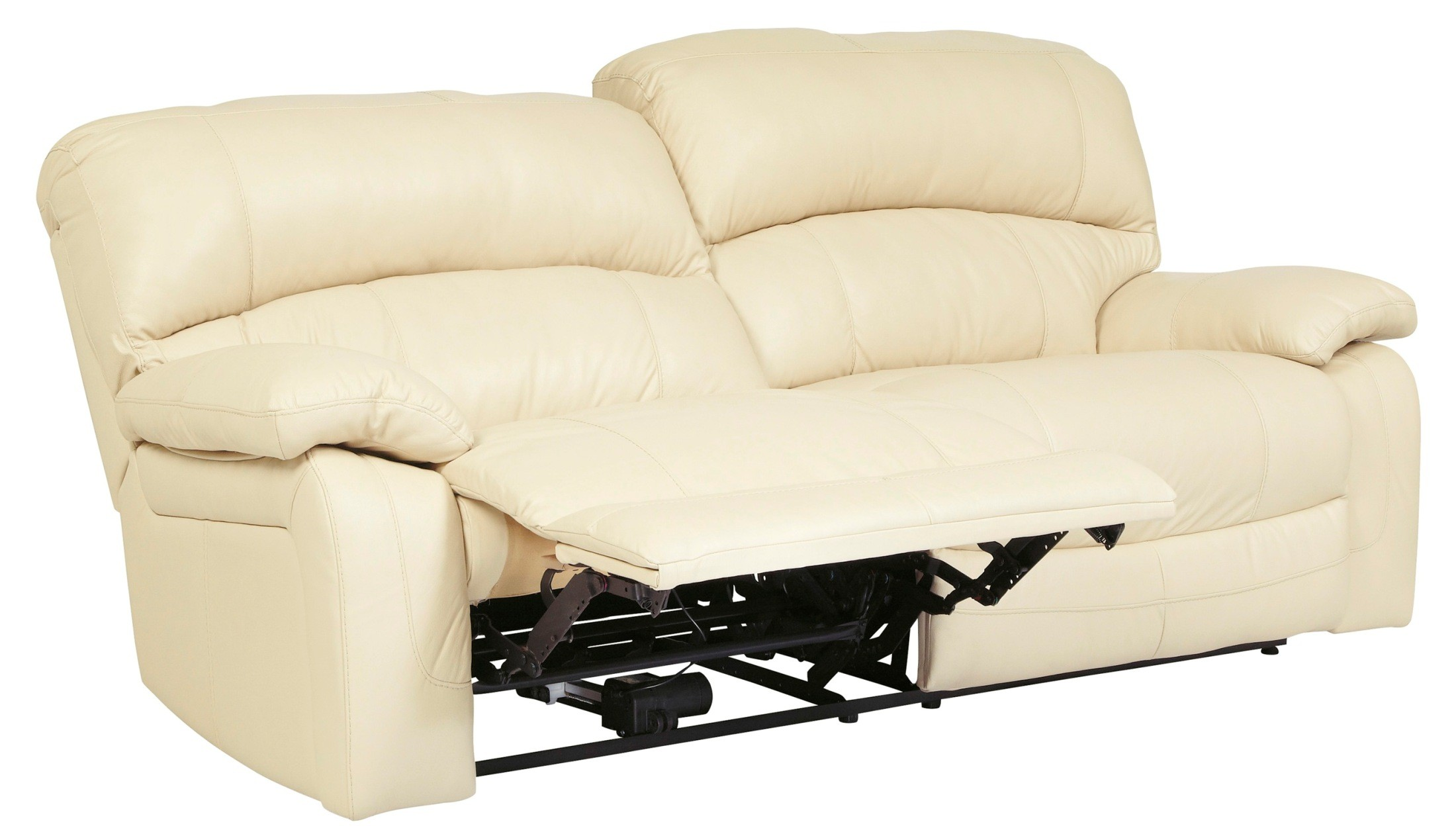 Damacio cream 2 seat power reclining sofa from ashley u9820147 coleman furniture Power loveseat recliner