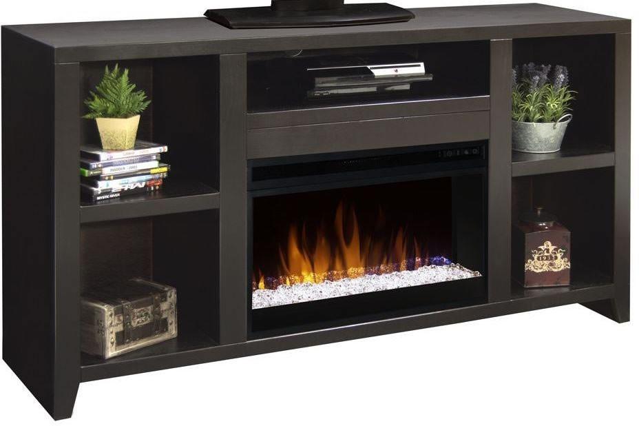 Urban loft 62 mocha fireplace console ul5201 moc Loft fireplace