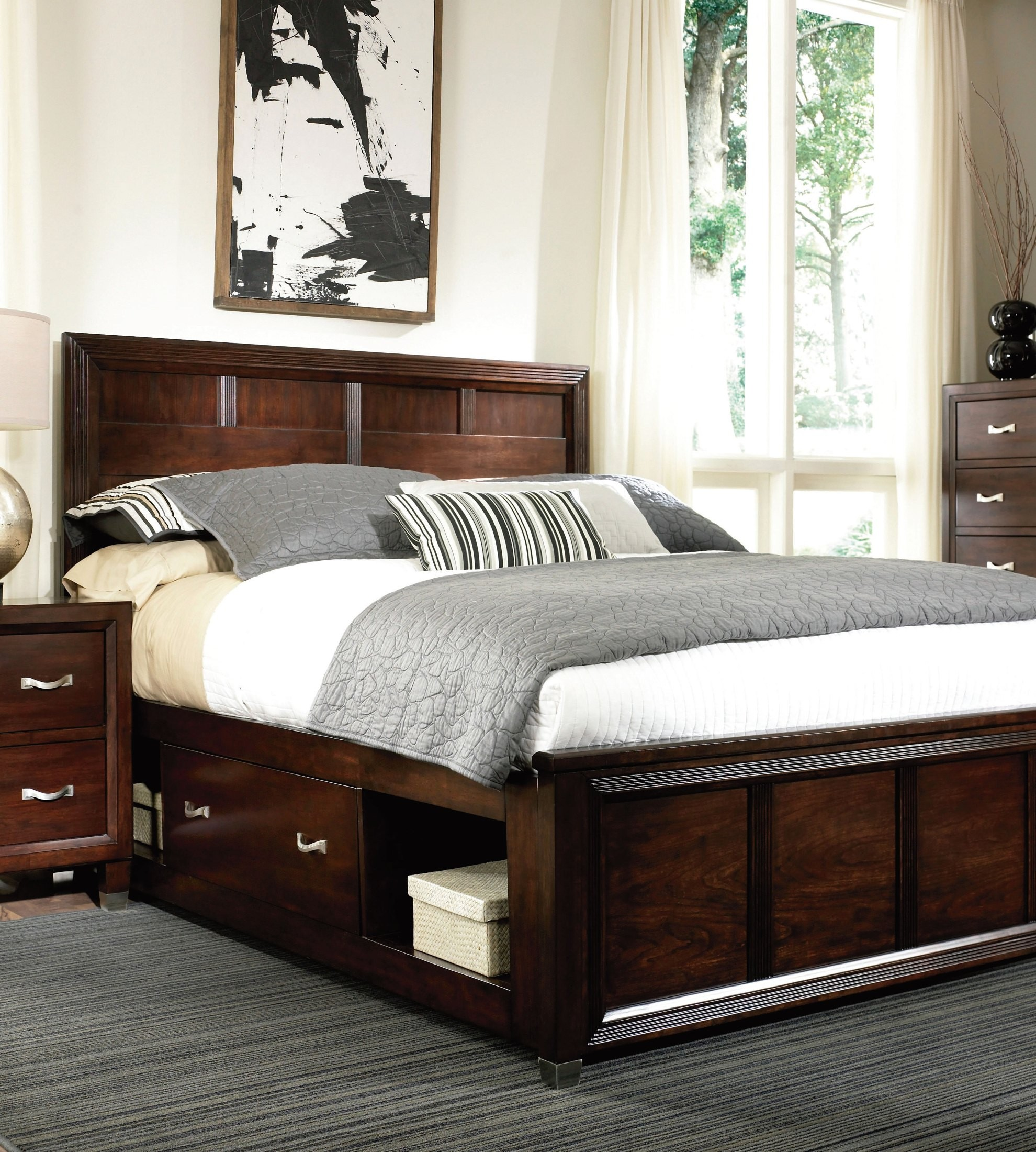 Eastlake 2 dual storage panel bedroom set 4264 250 261 for Storage eastlake