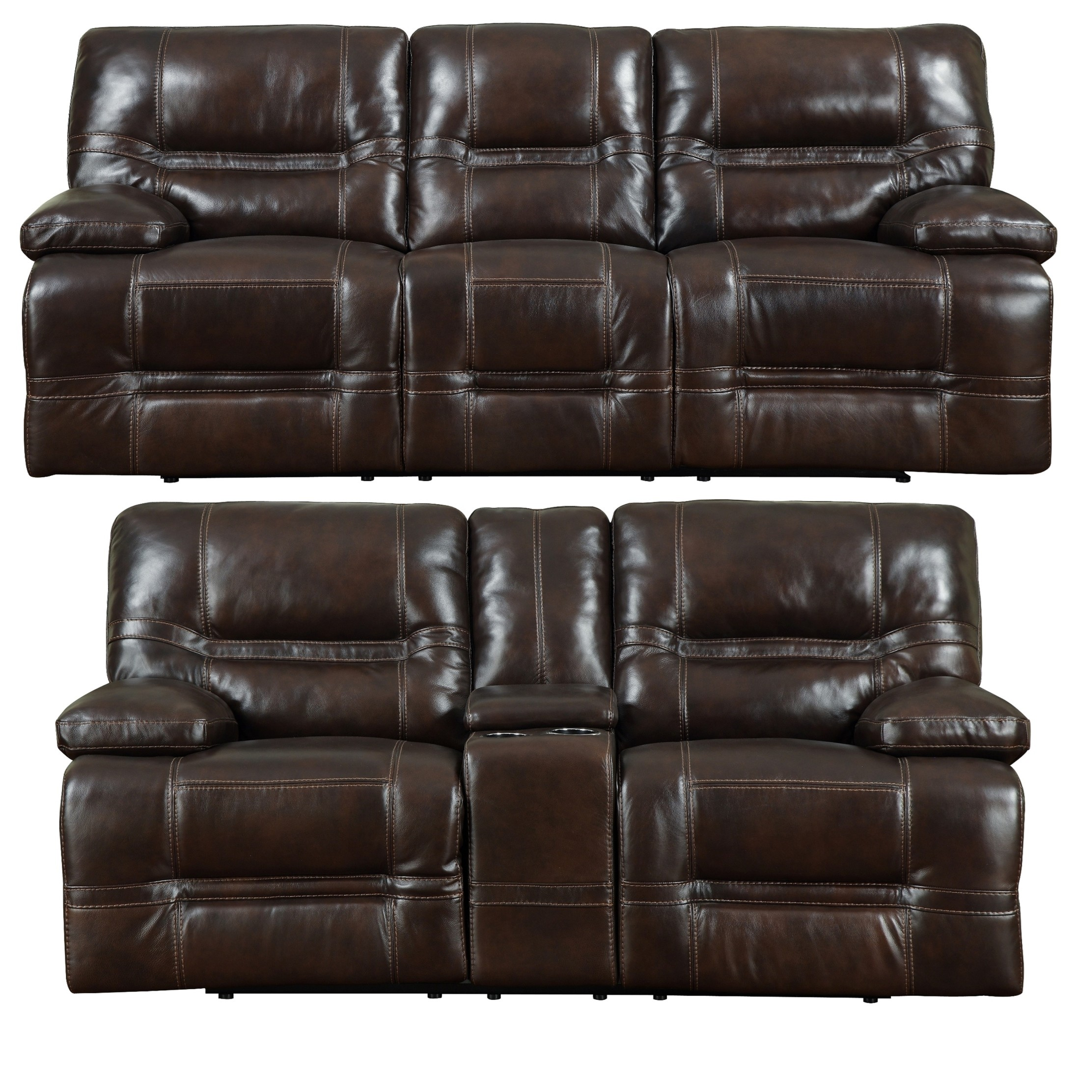 leather power reclining living room sets overland chocolate leather power reclining living room set