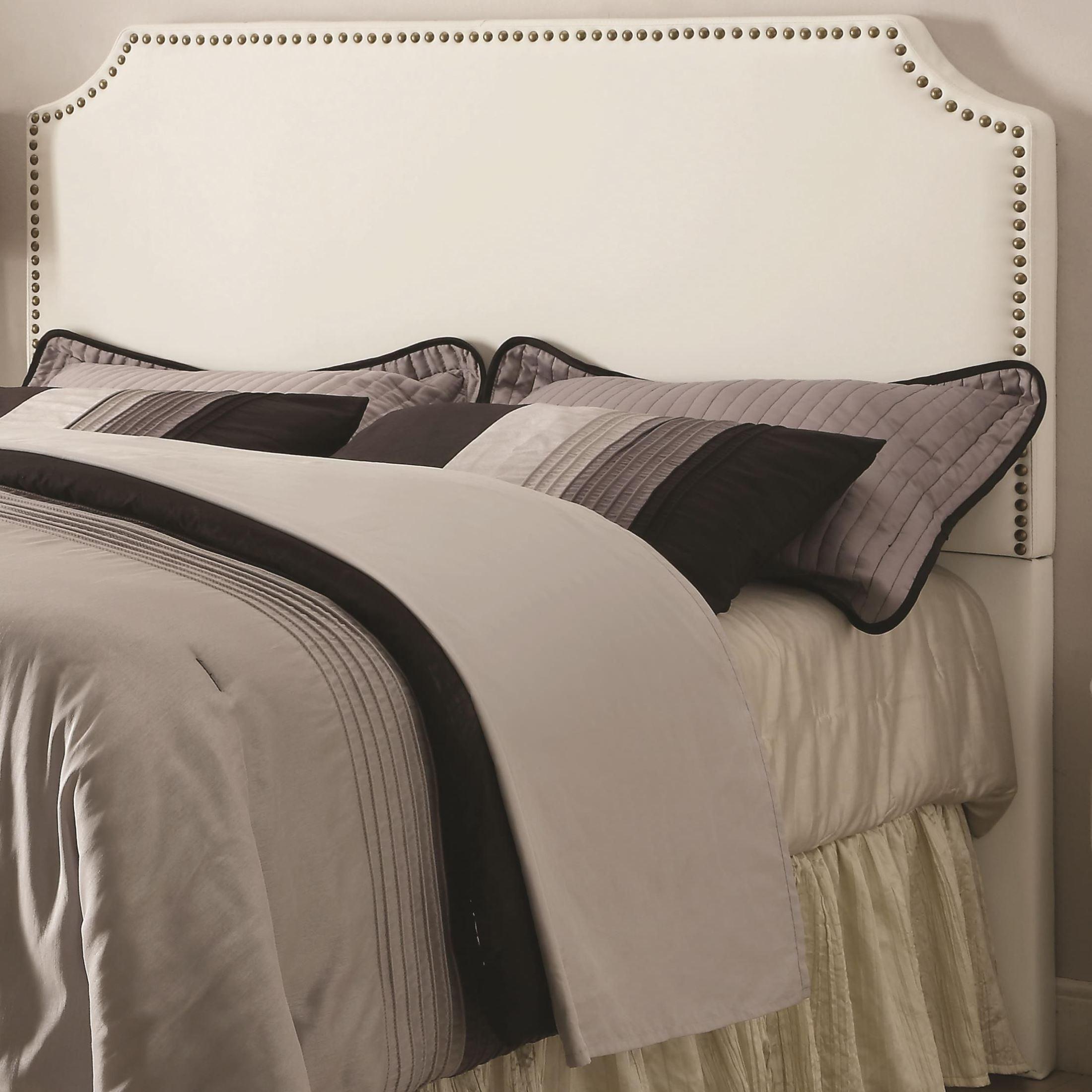 Novato White King Upholstered Headboard From Coaster