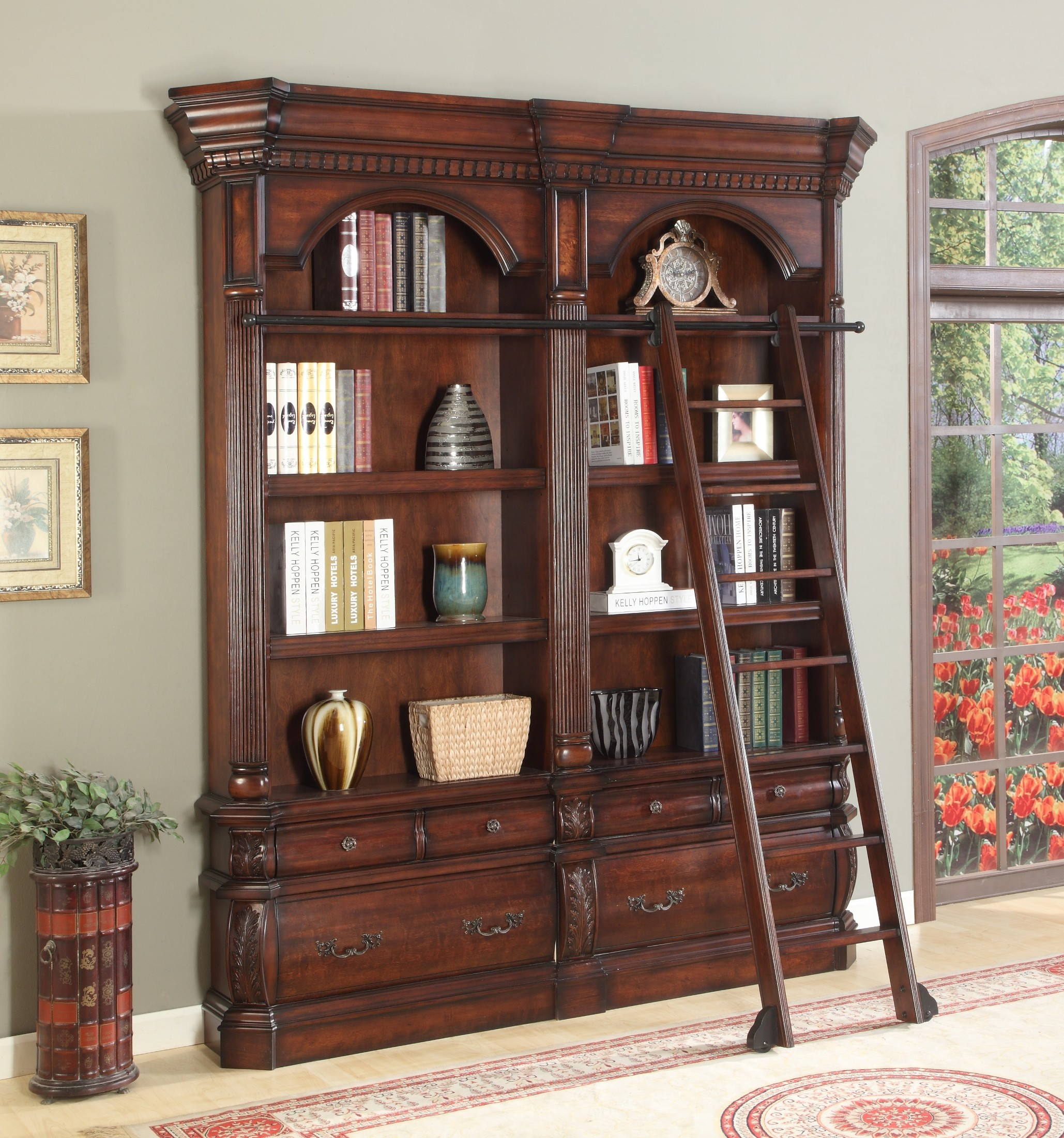 Versailles 2pc Museum Bookcase 9030 9031 From Parker House Ver 9030 2 Coleman Furniture