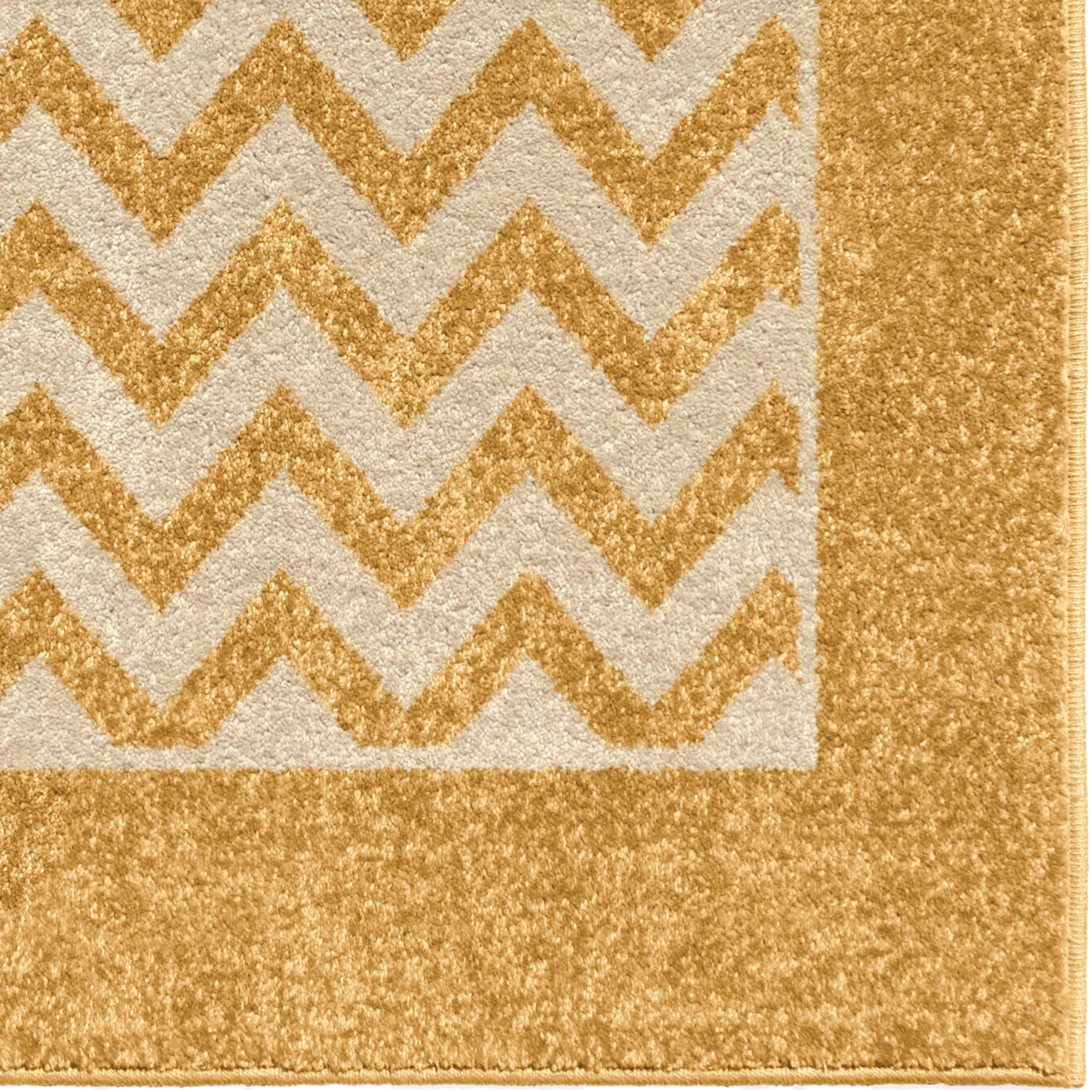 Large Area Rugs Gold: Orian Rugs Indoor/Outdoor Geometric Sunny Day Stripe Gold