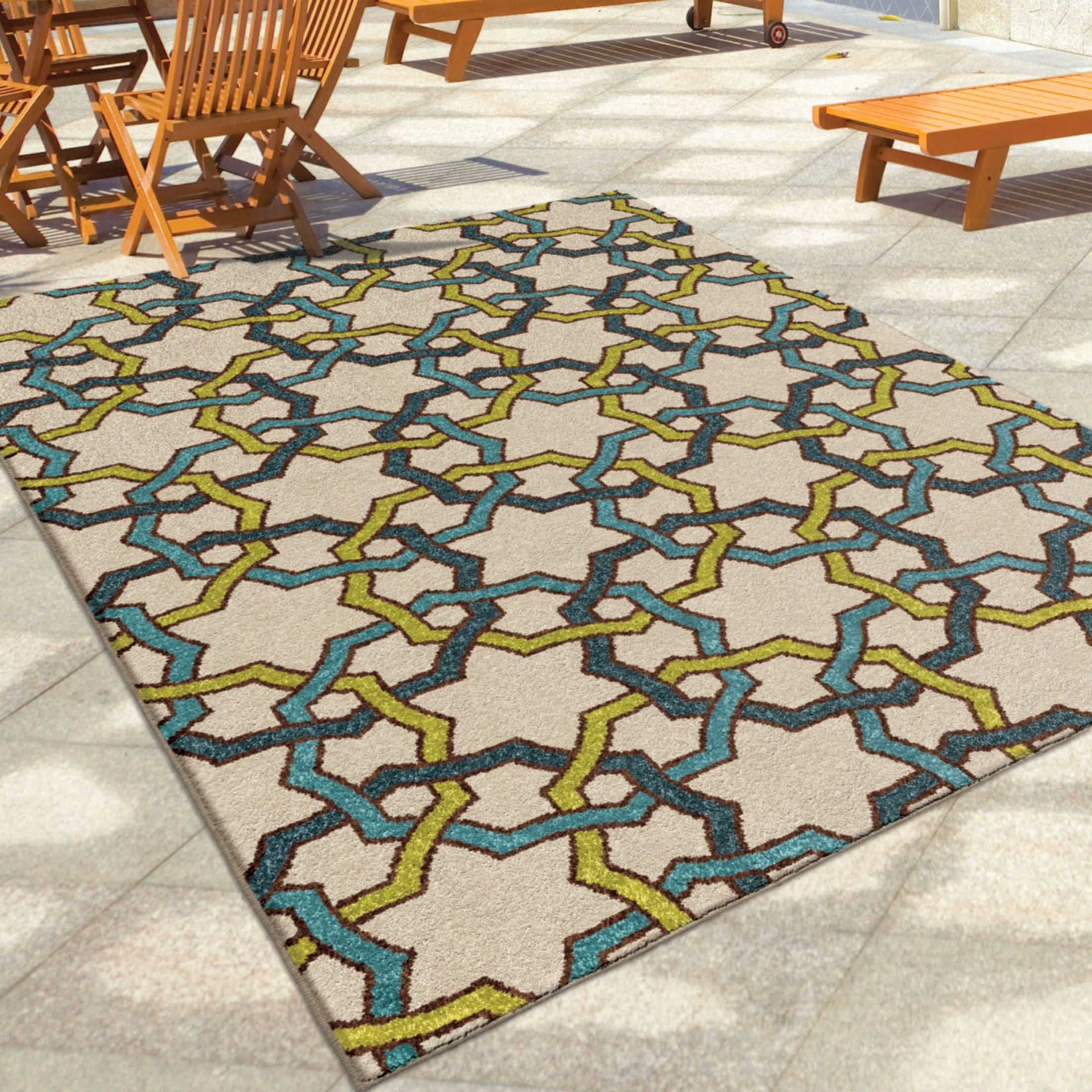 Orian Rugs Indoor Outdoor Interlocking Circles Davidson