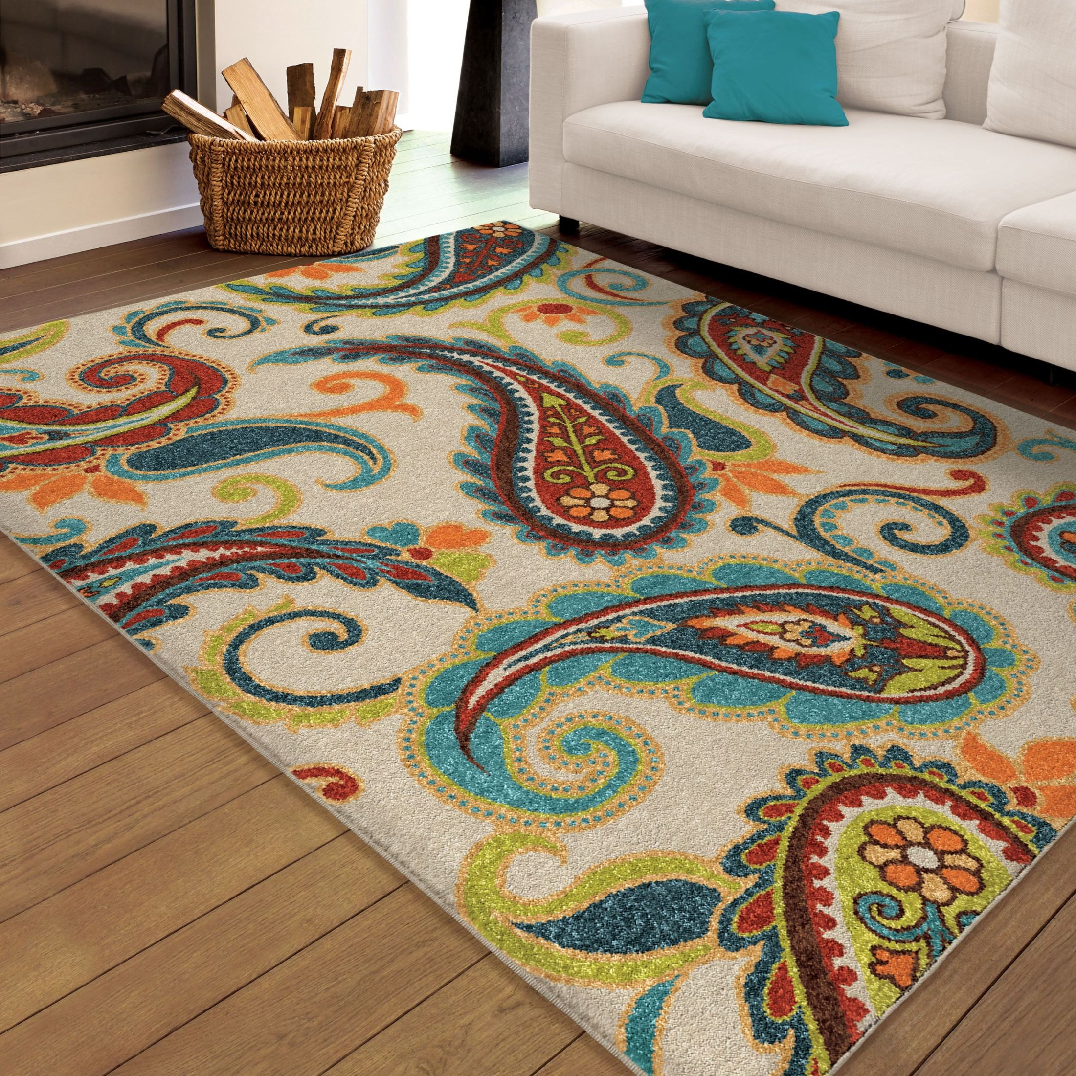 Orian Rugs Indoor Outdoor Paisley Edisto Multi Area Small