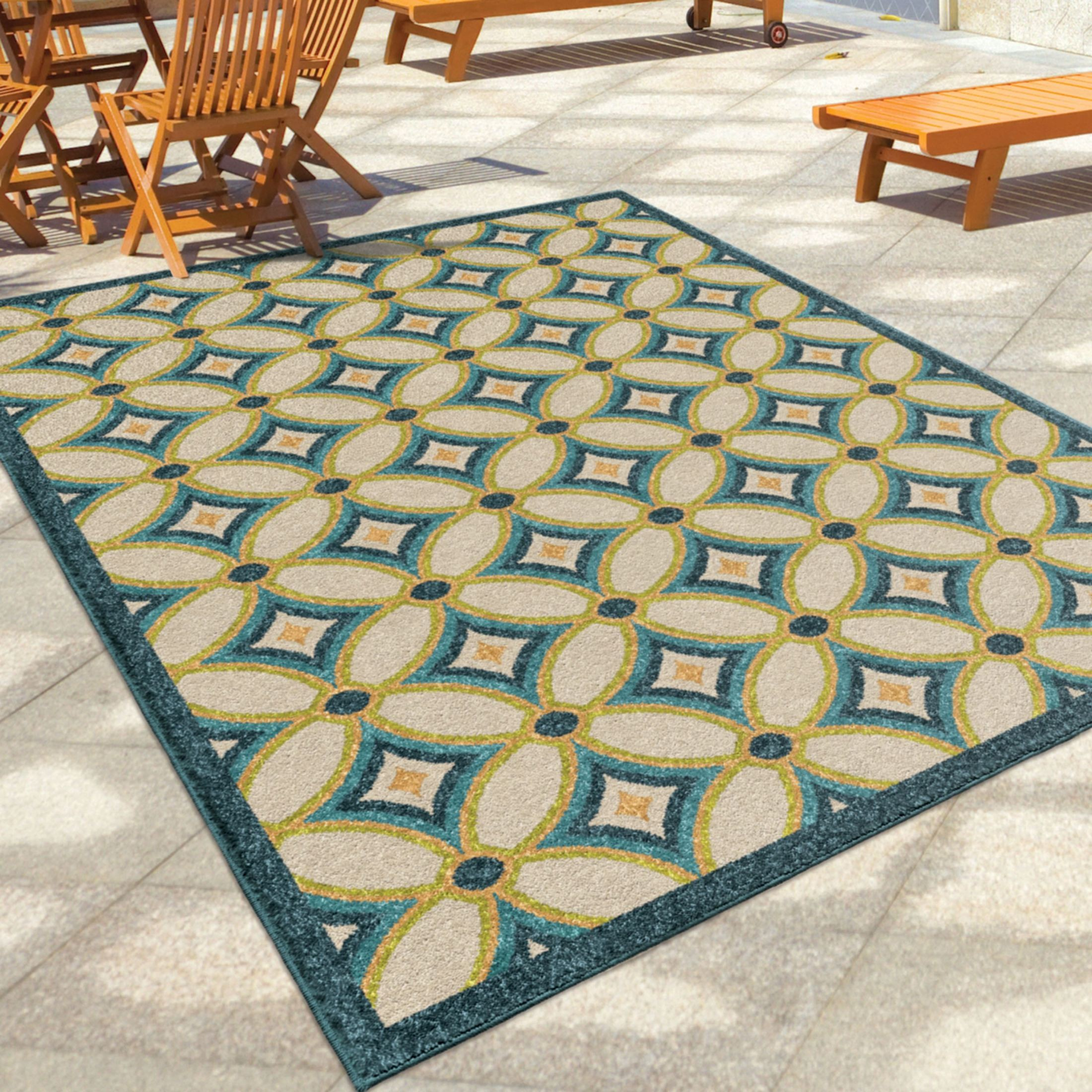 Orian Rugs Indoor Outdoor Circles Tezza Multi Area Small