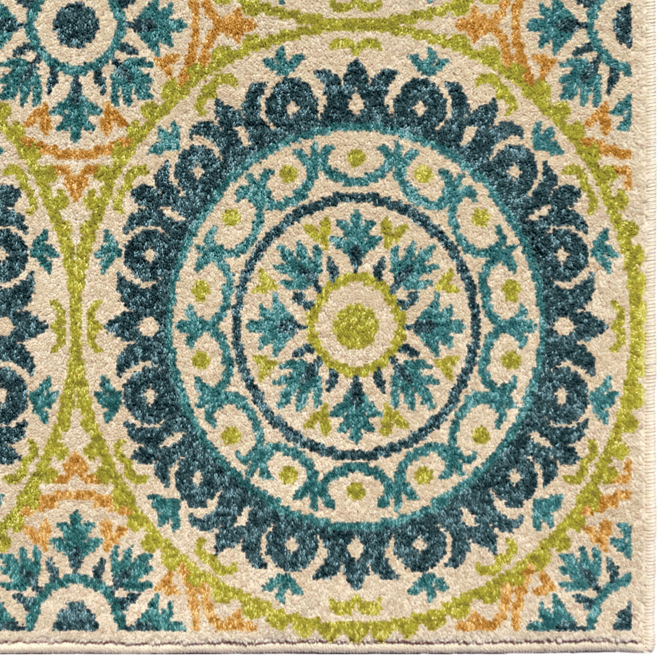 Orian Rugs Indoor Outdoor Medallion Hamilton Multi Area