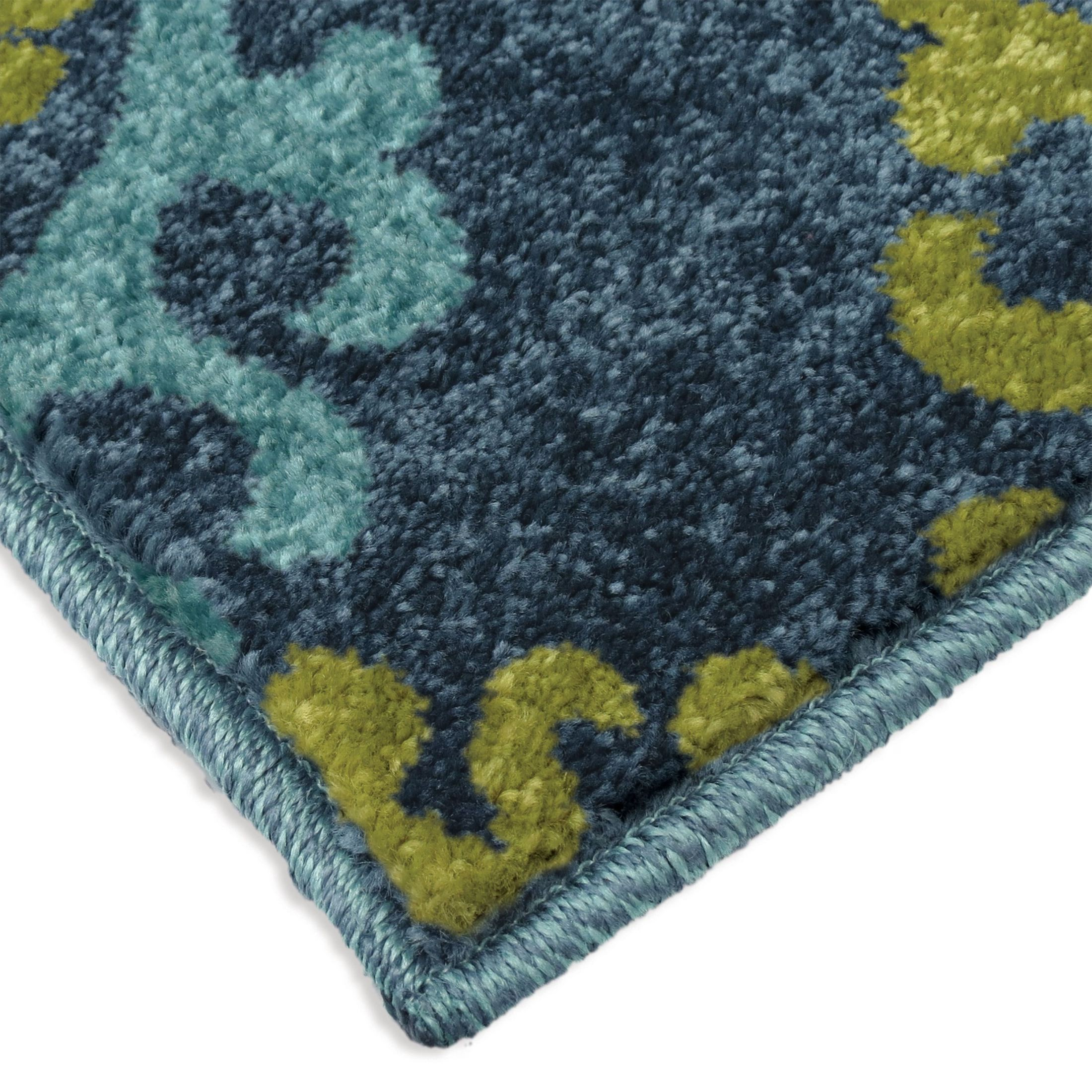 Orian Rugs Indoor Outdoor Scroll Medallion Kokand Blue
