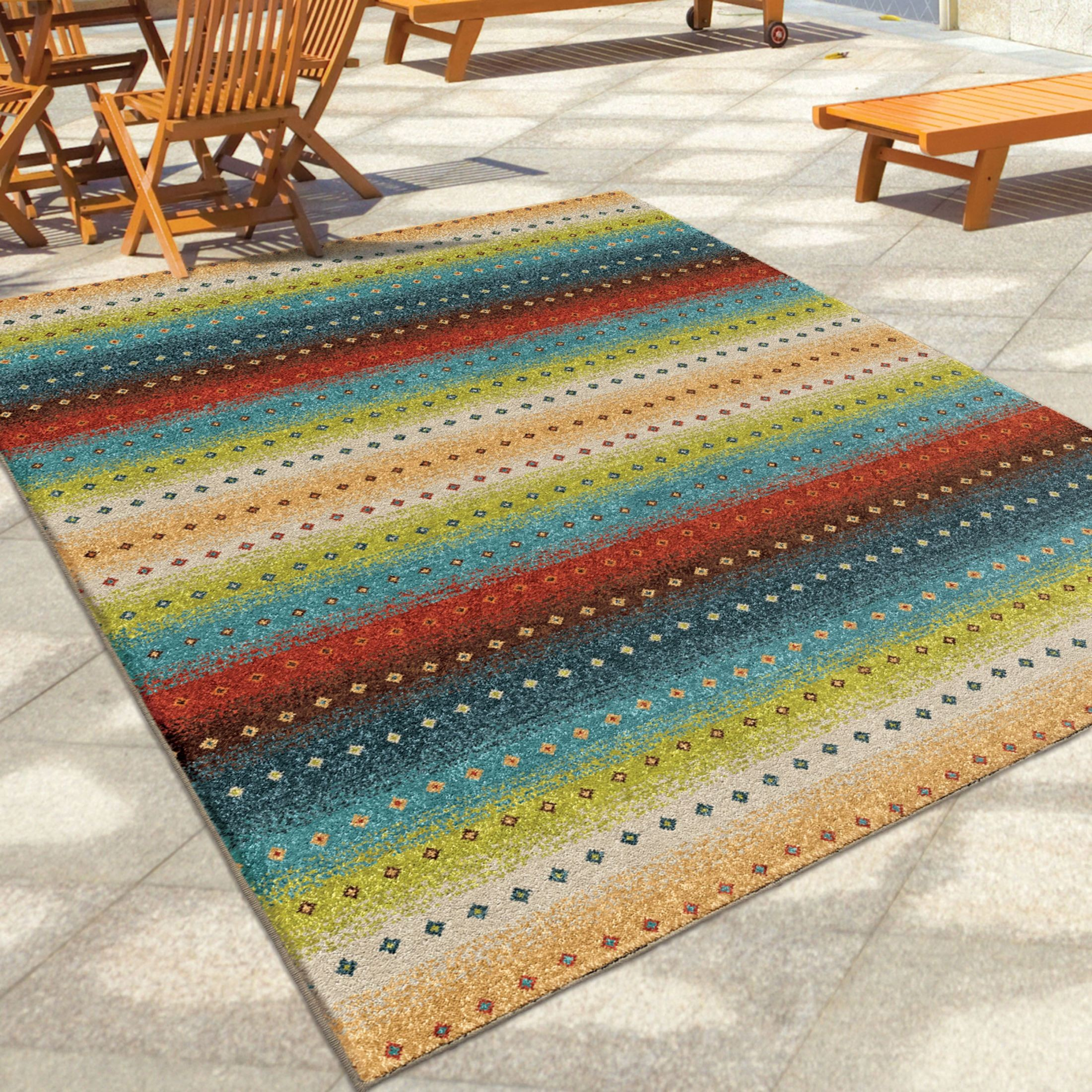 Orian Rugs Indoor Outdoor Stripes Le mans Multi Area