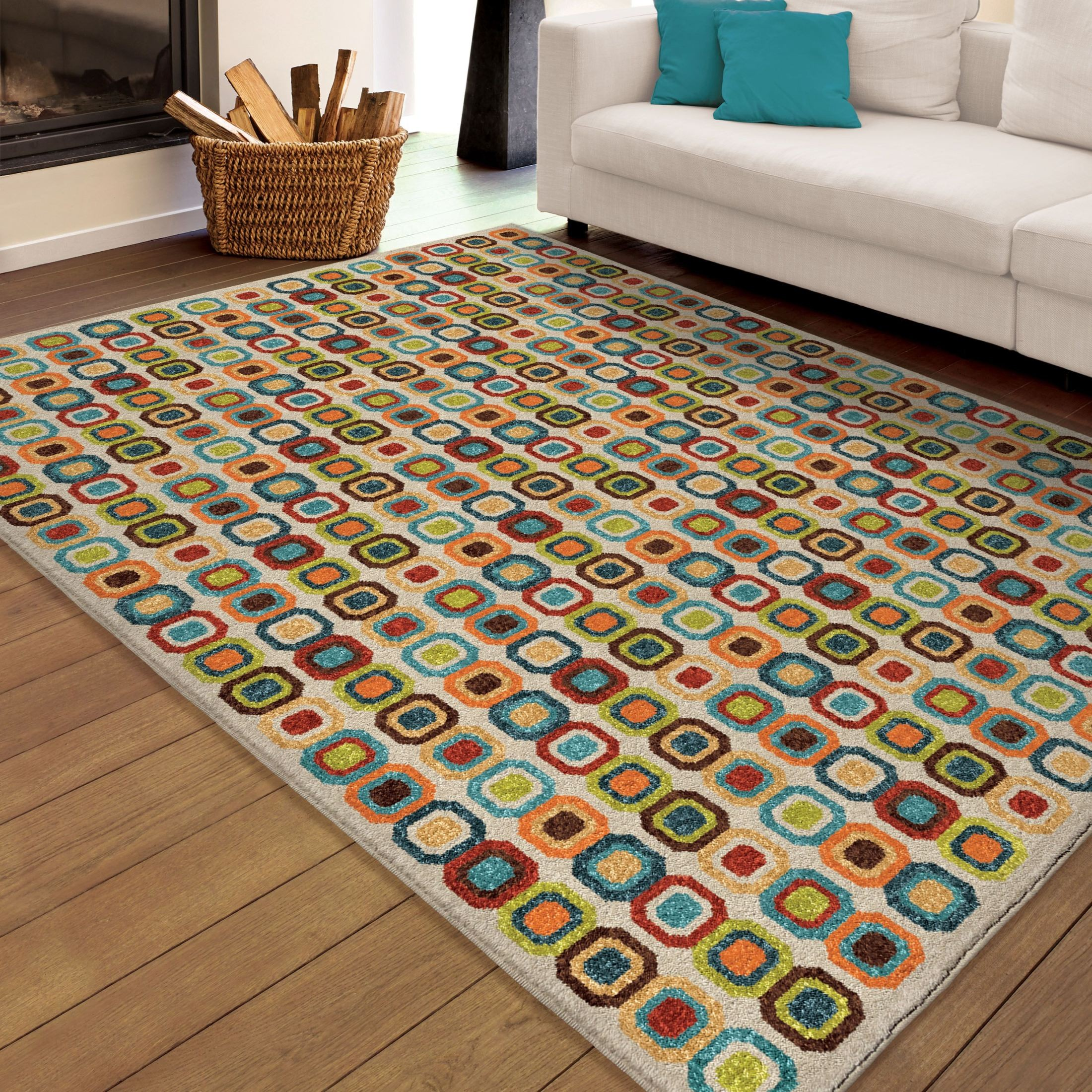 Orian Rugs Indoor Outdoor Squares Slot Machine Multi Area