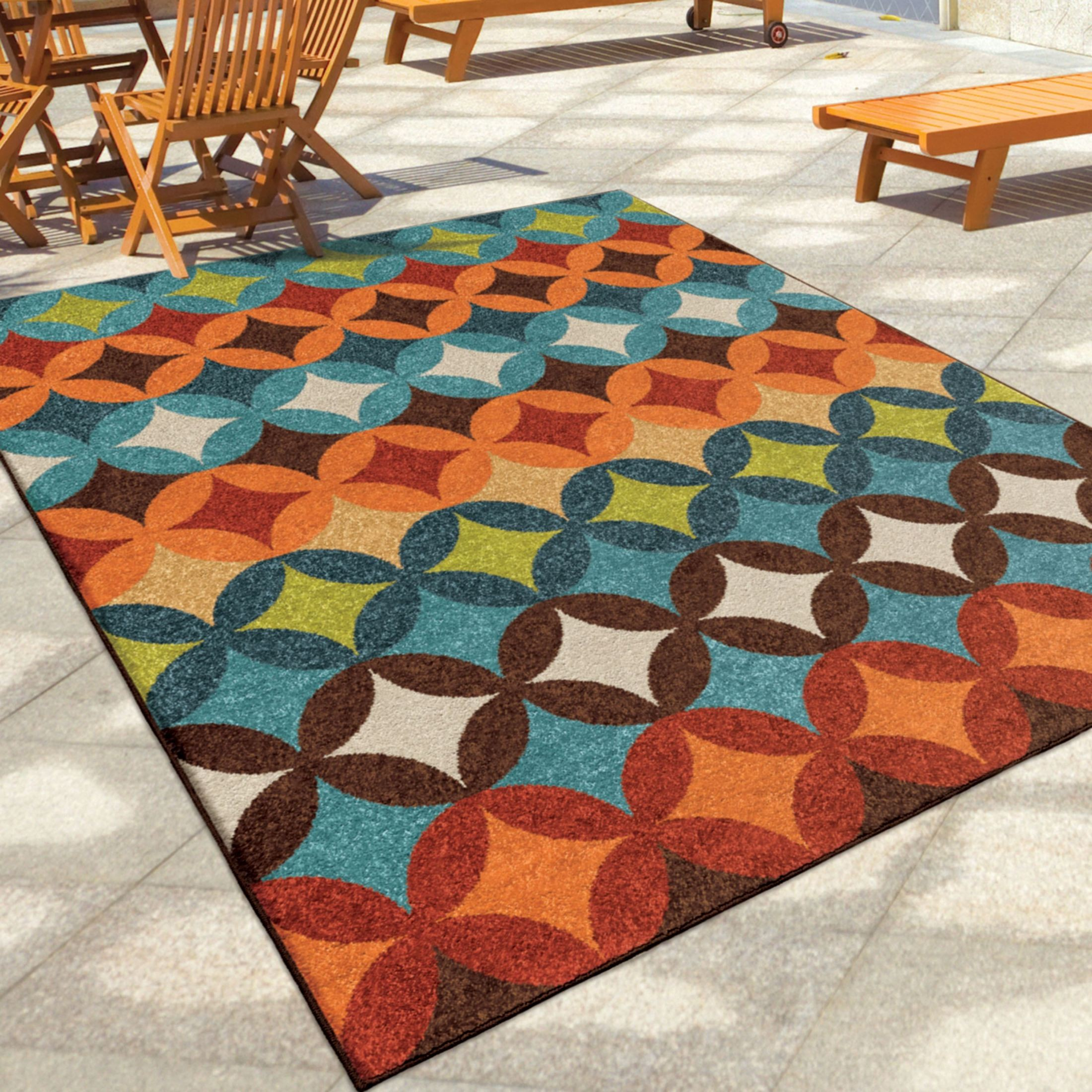 Orian rugs indoor outdoor shapes berkley multi area large for Indoor out door rugs