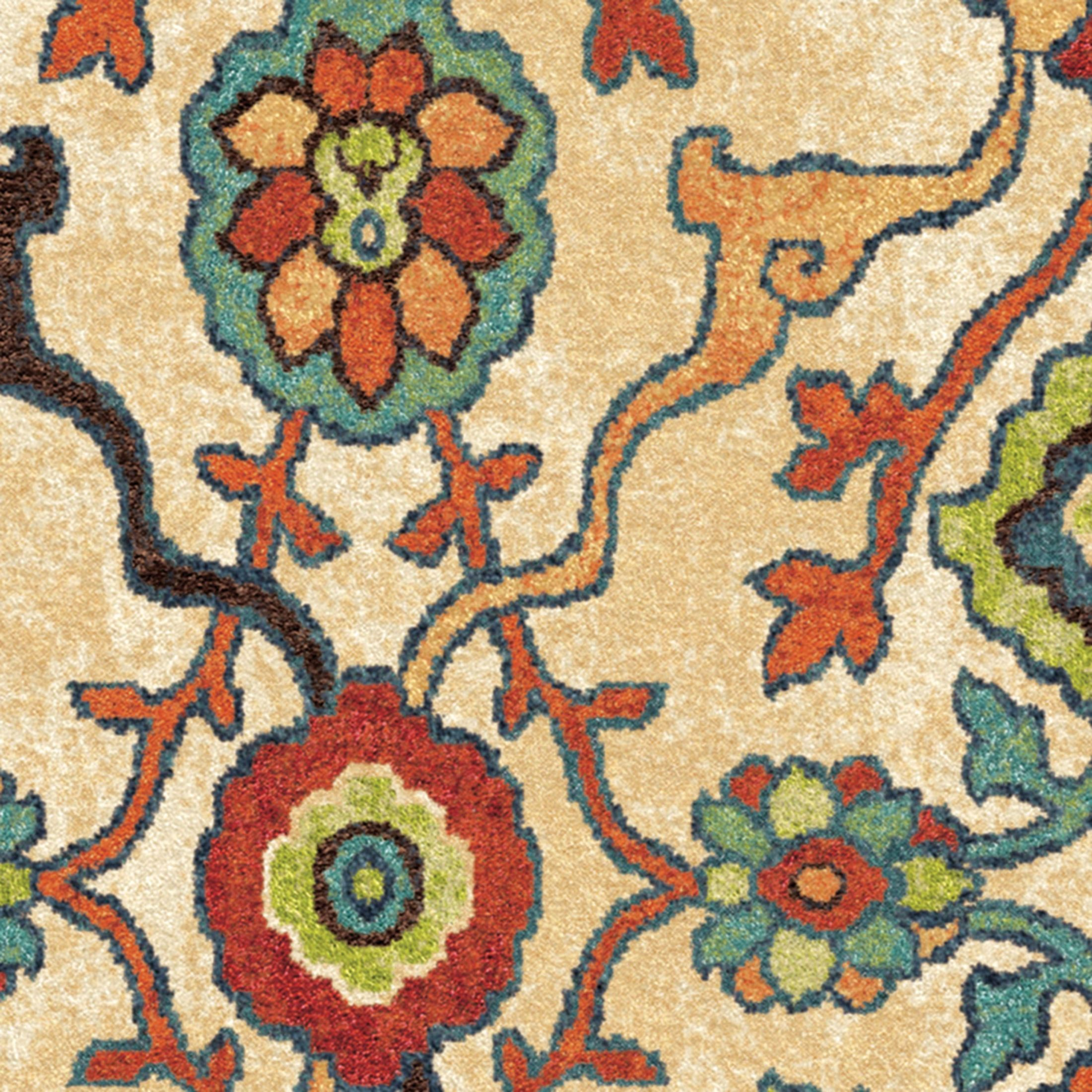 Orian rugs bright color floral tibet multi area large rug for Bright floral area rugs