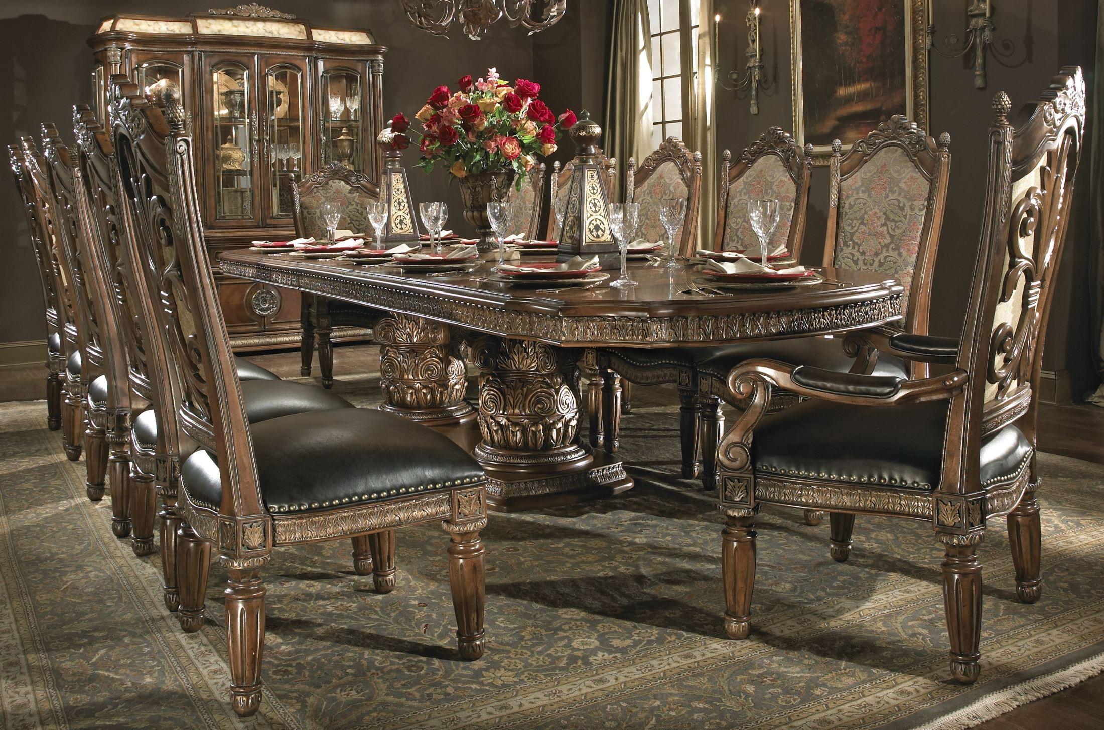 Villa Valencia Rectangular Extendable Dining Room Set From Aico - Aico dining room set