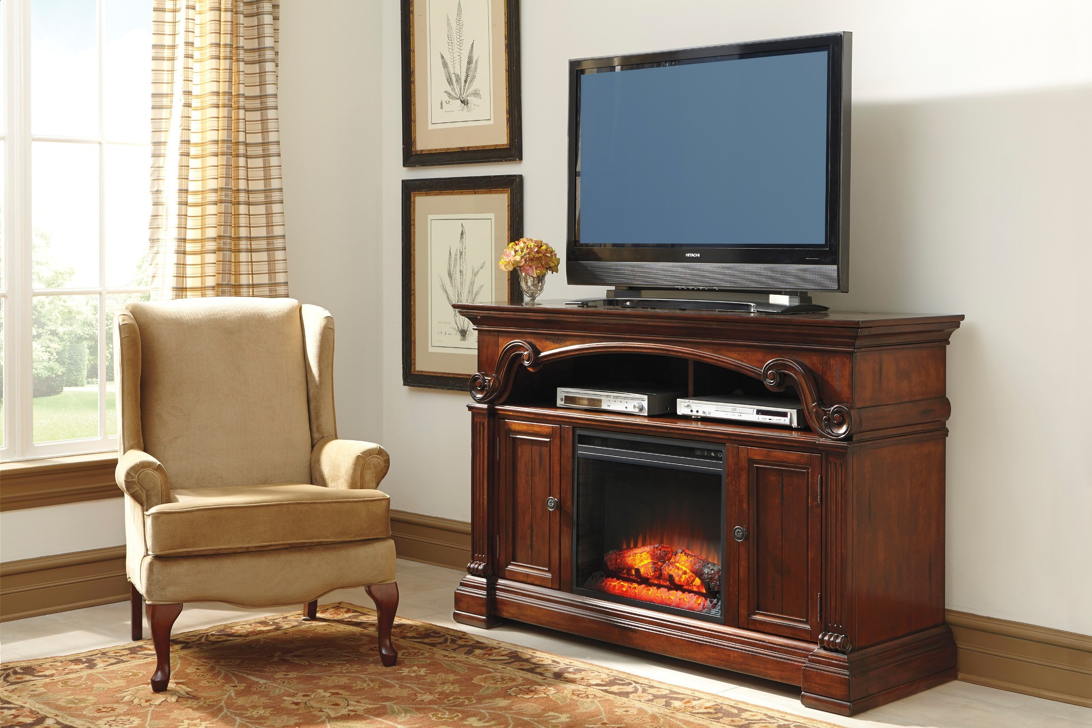 Alymere Lg Tv Stand With Fireplace Option W669 68 Ashley