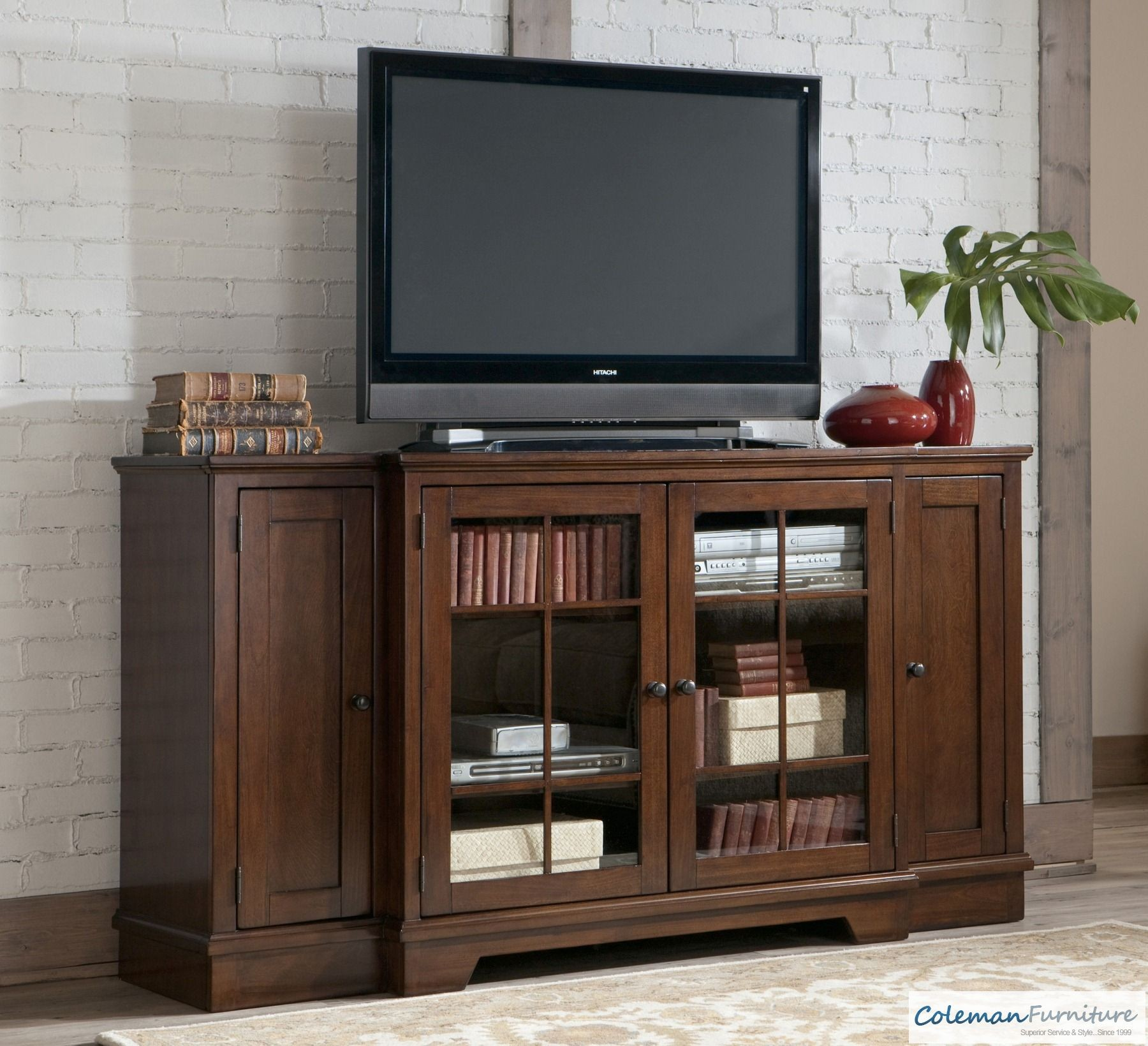 Hodgenville Tall Extra Large Tv Stand From Ashley W684 48 Coleman Furniture