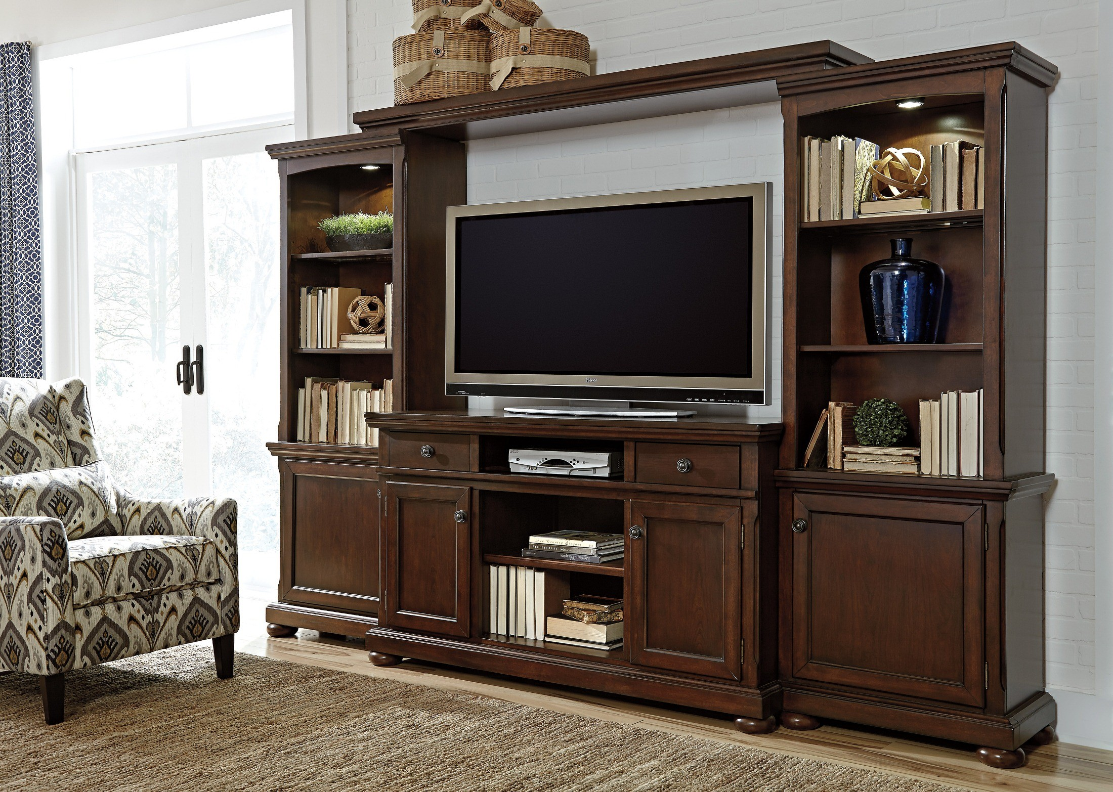 Porter Large Entertainment Wall Unit From Ashley (W697-132-33-34-35)