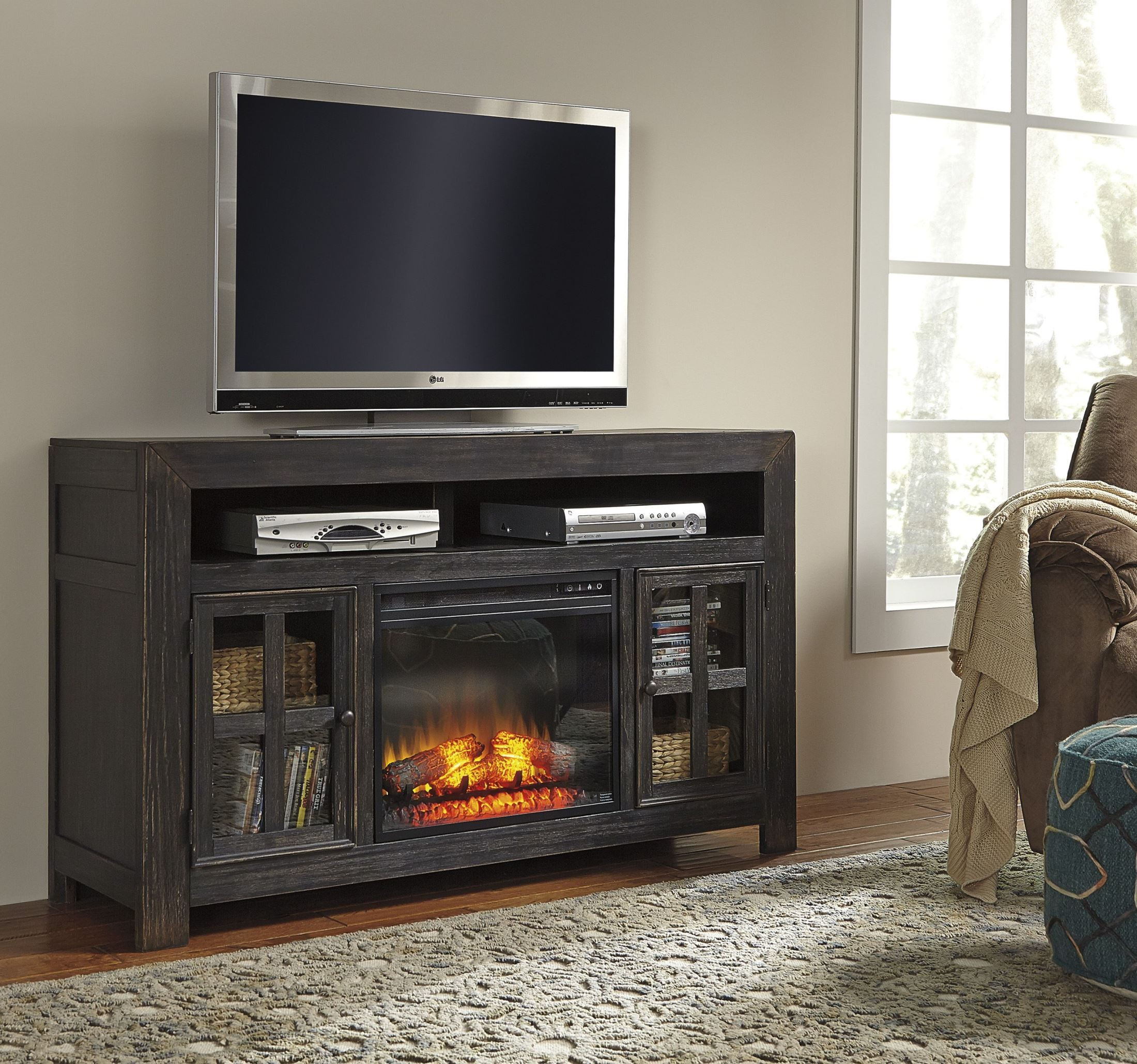 Gavelston Entertainment Wall With Fireplace Option From Ashley W732 38 23 24 25 Coleman