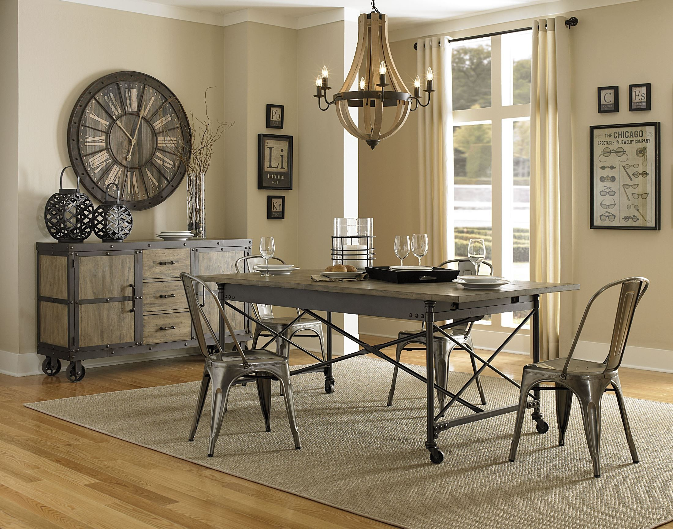 walton rectangular dining table with casters from magnussen home
