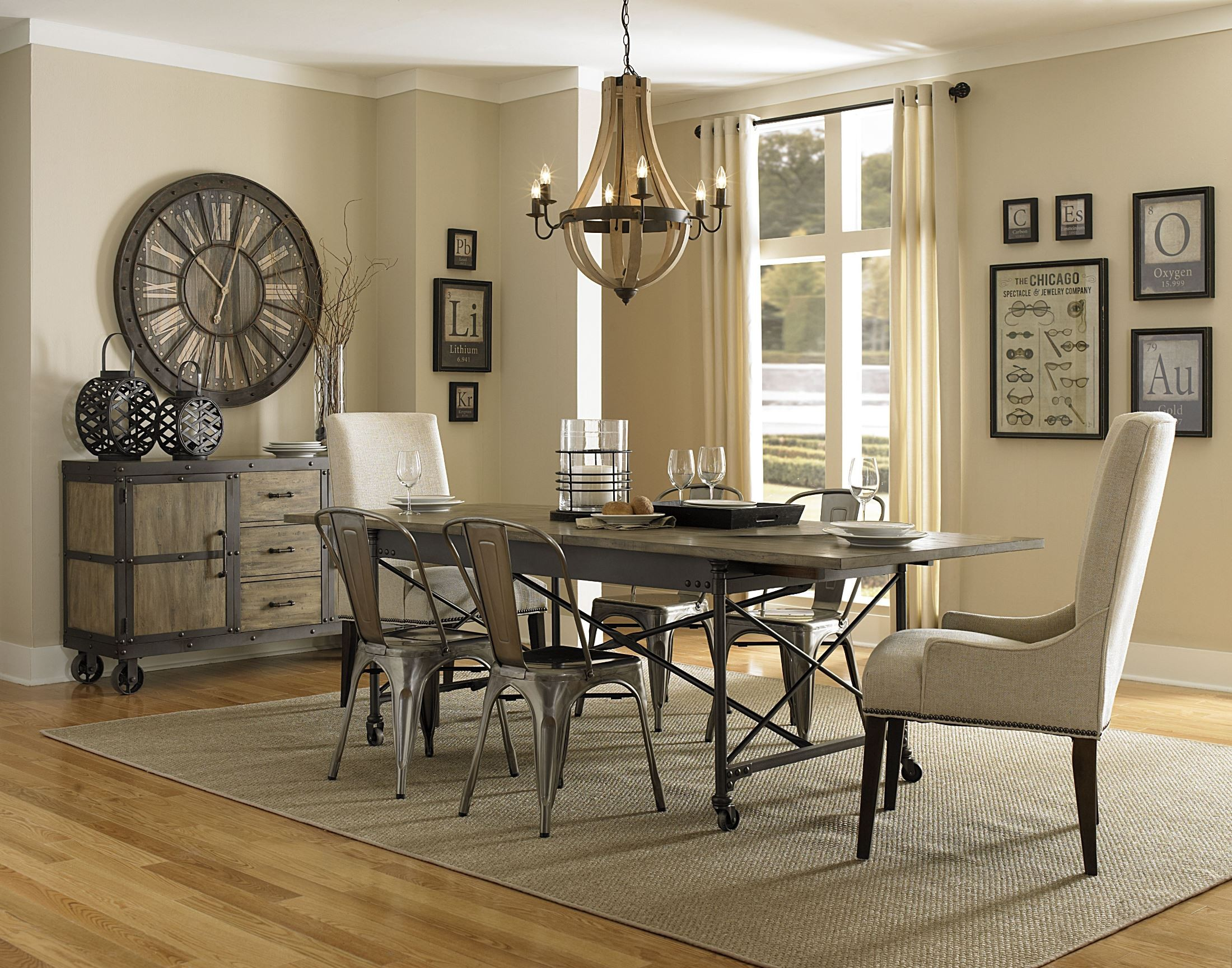 walton rectangular dining room set from magnussen home d2469 20 coleman furniture. Black Bedroom Furniture Sets. Home Design Ideas