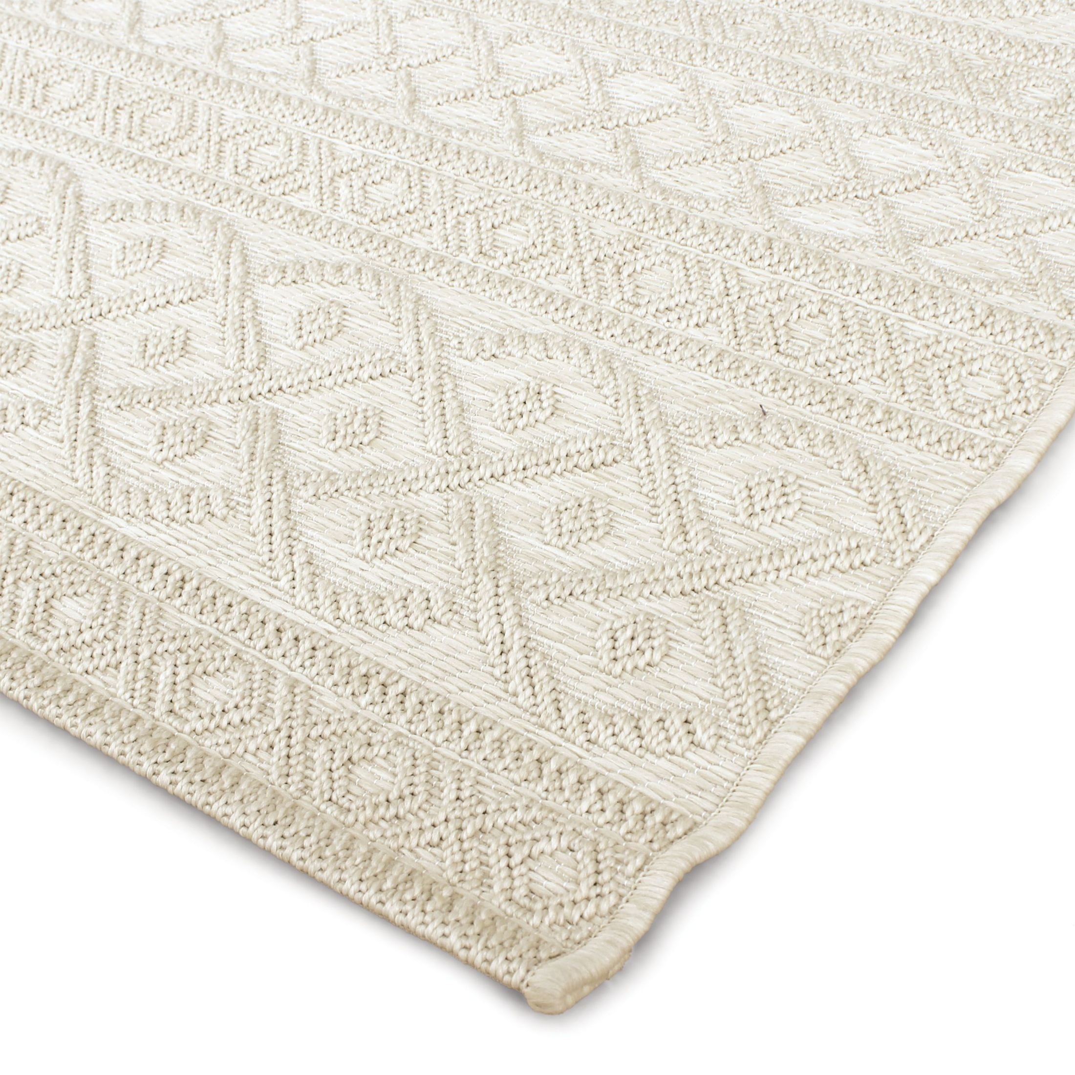 Orian Rugs Indoor Outdoor Knit Organic Cable ivory Area