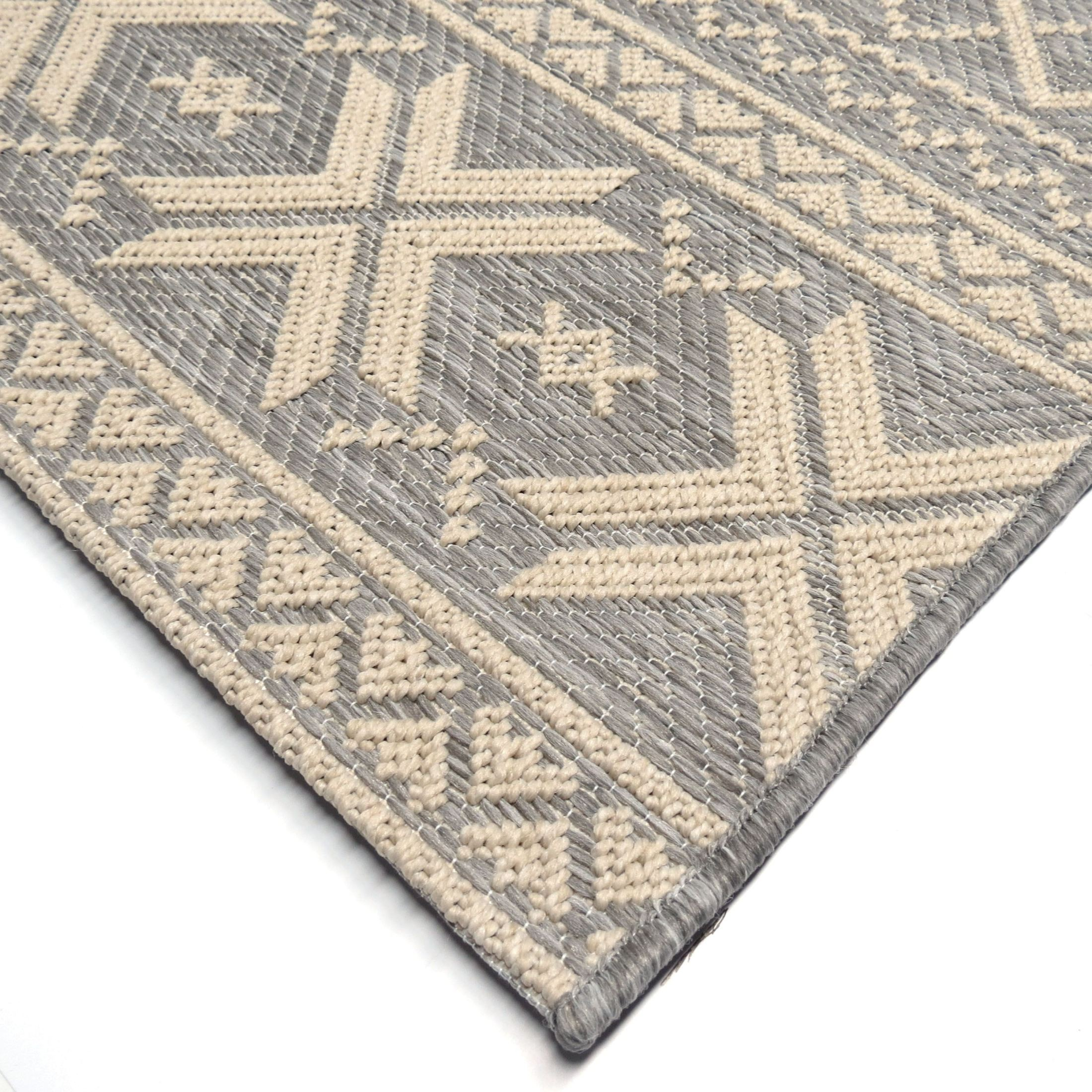 Orian Rugs Indoor Outdoor Textured Cablecross Gray Area