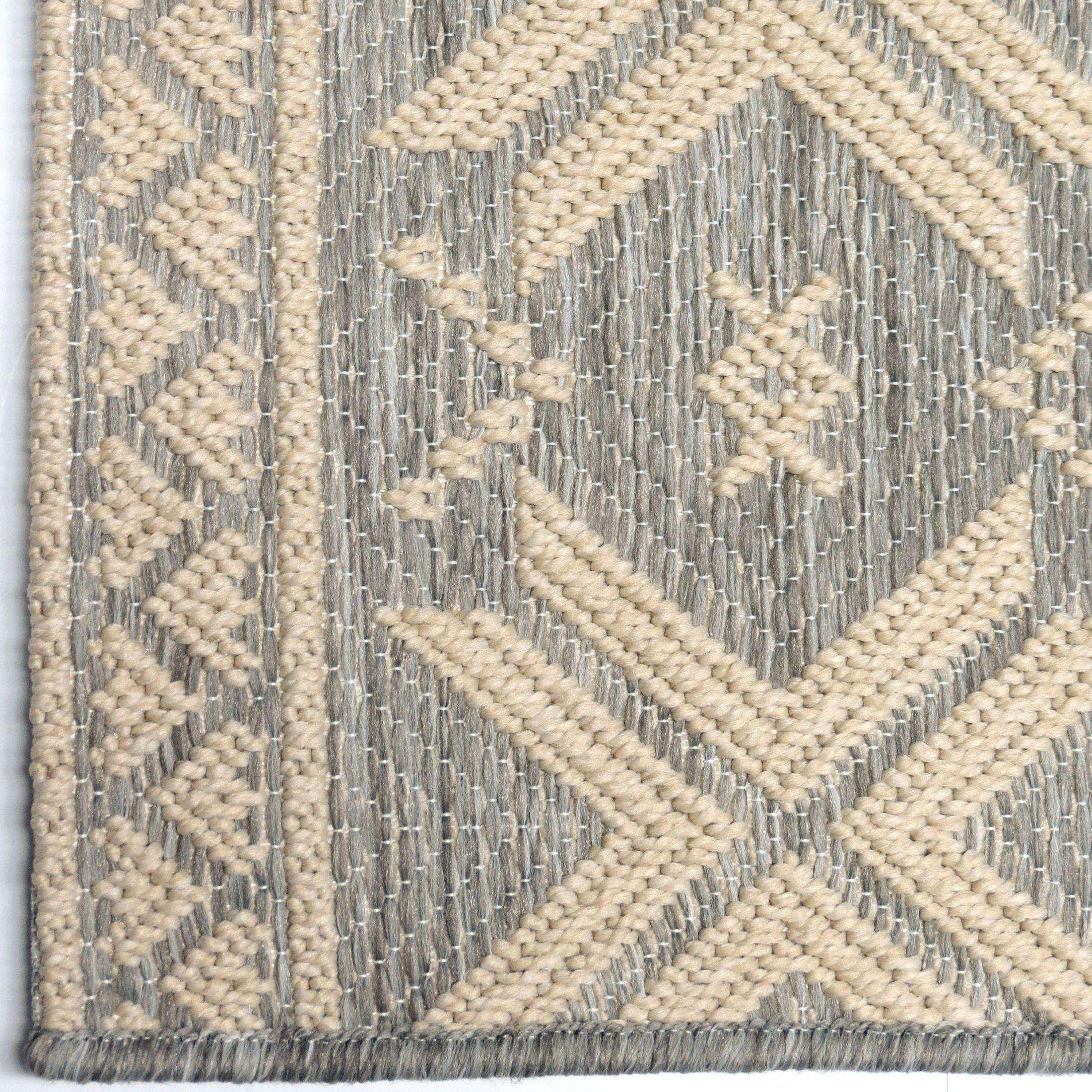Gray Area Rug 8x11: Orian Rugs Indoor/ Outdoor Textured Cablecross Gray Area
